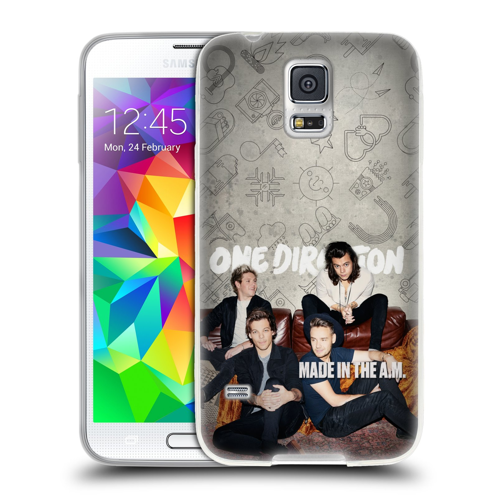 HEAD CASE silikonový obal na mobil Samsung Galaxy S5 chlapecká skupina One Direction gauč