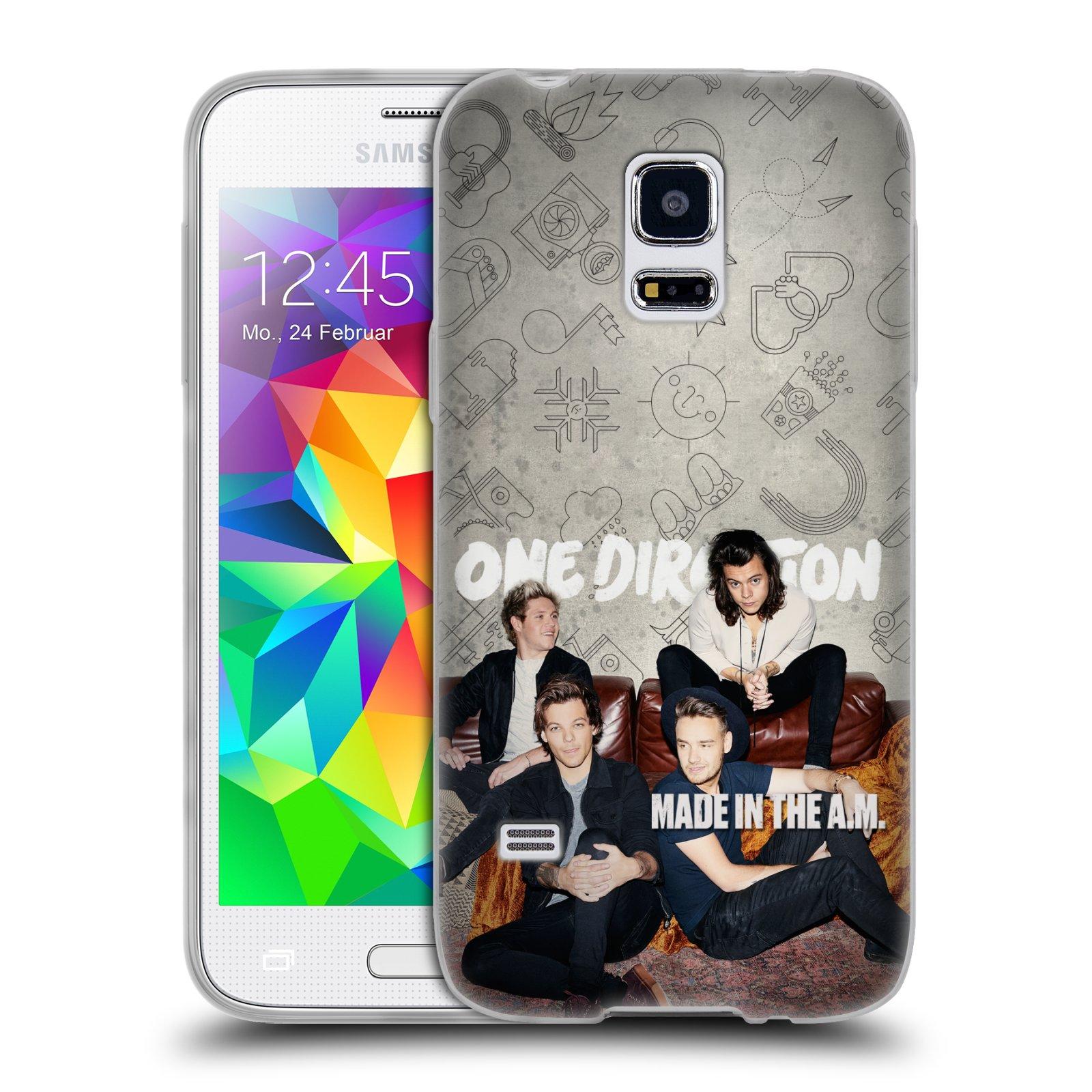 HEAD CASE silikonový obal na mobil Samsung Galaxy S5 MINI chlapecká skupina One Direction gauč