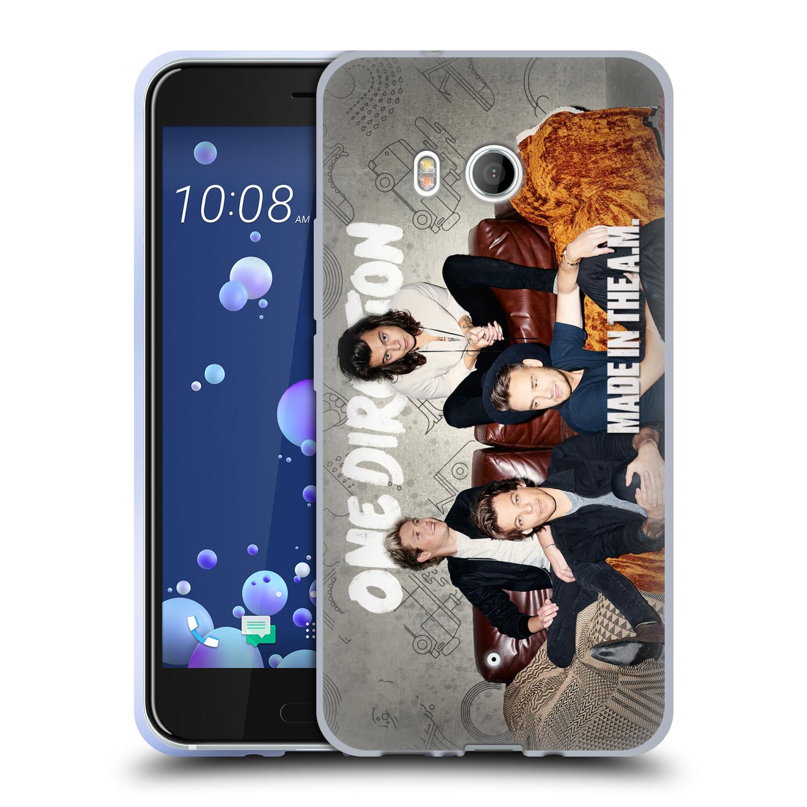 HEAD CASE silikonový obal na mobil HTC U11 / HTC U11 DUAL SIM chlapecká skupina One Direction gauč