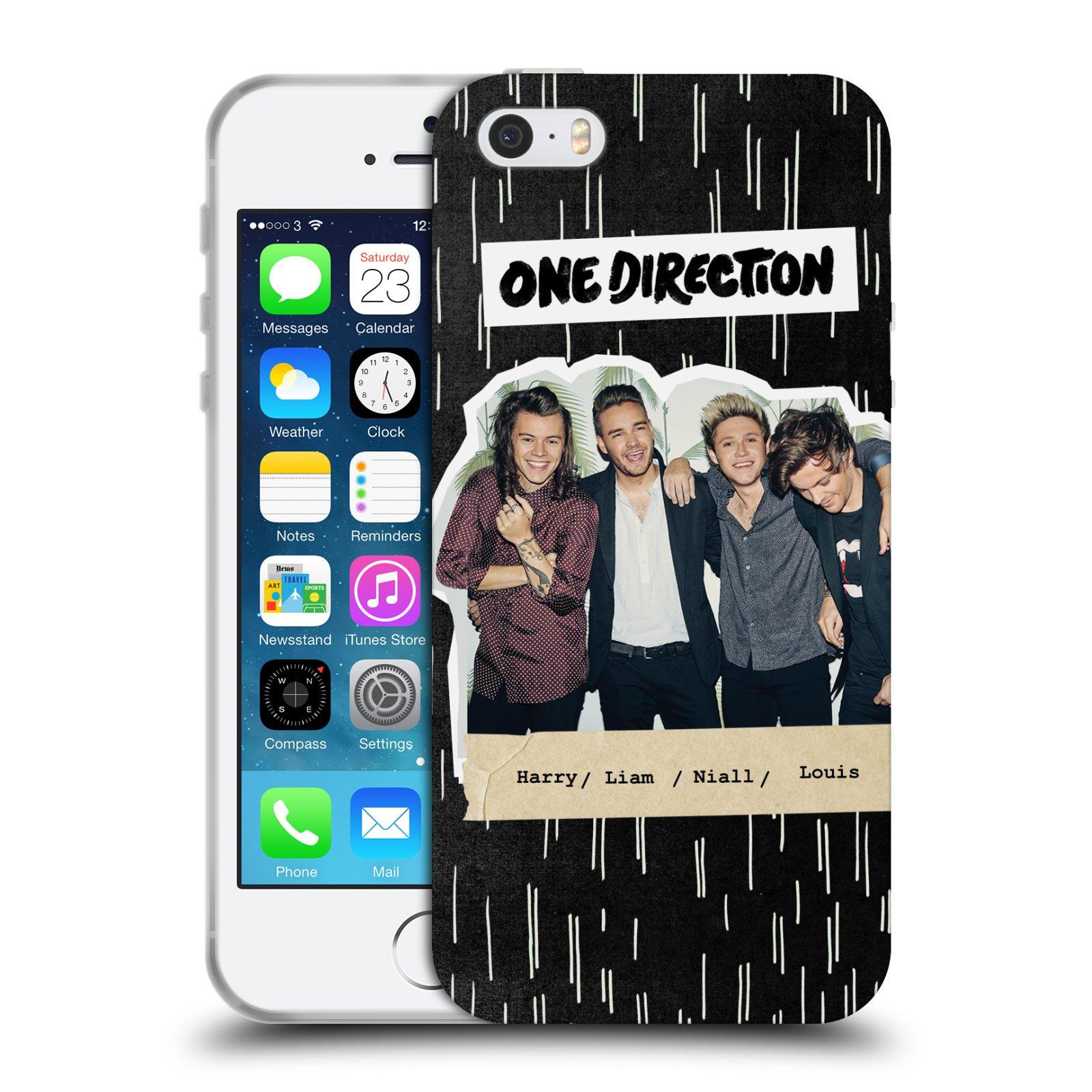 HEAD CASE silikonový obal na mobil Apple Iphone 5 5S chlapecká skupina One  Direction skupinové empty 8e77aa0c4e2