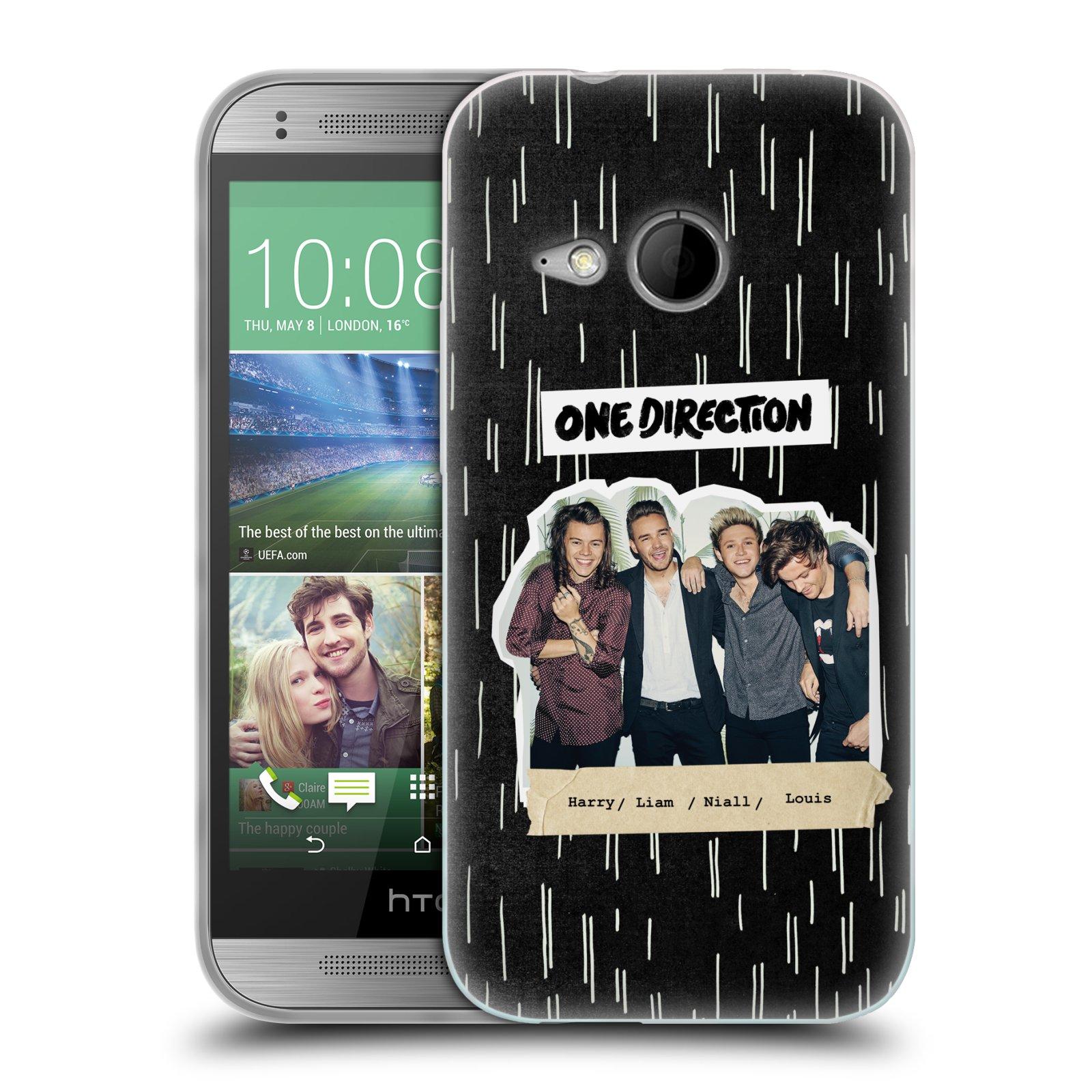Silikonové pouzdro na mobil HTC ONE Mini 2 HEAD CASE One Direction - Sticker Partička (Silikonový kryt či obal One Direction Official na mobilní telefon HTC ONE Mini 2)