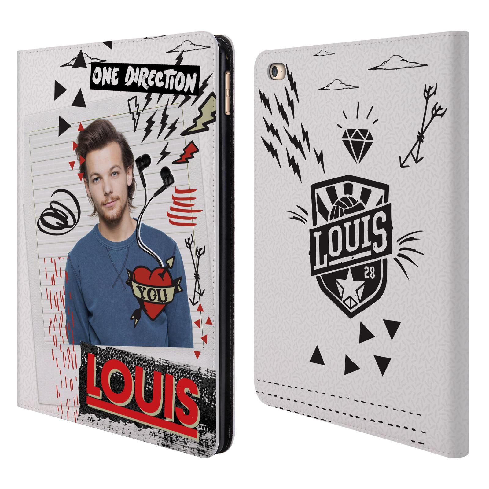 Officiel-One-Direction-1D-Midnight-Louis-cuir-Livre-etui-portefeuille-pour-Apple-iPad