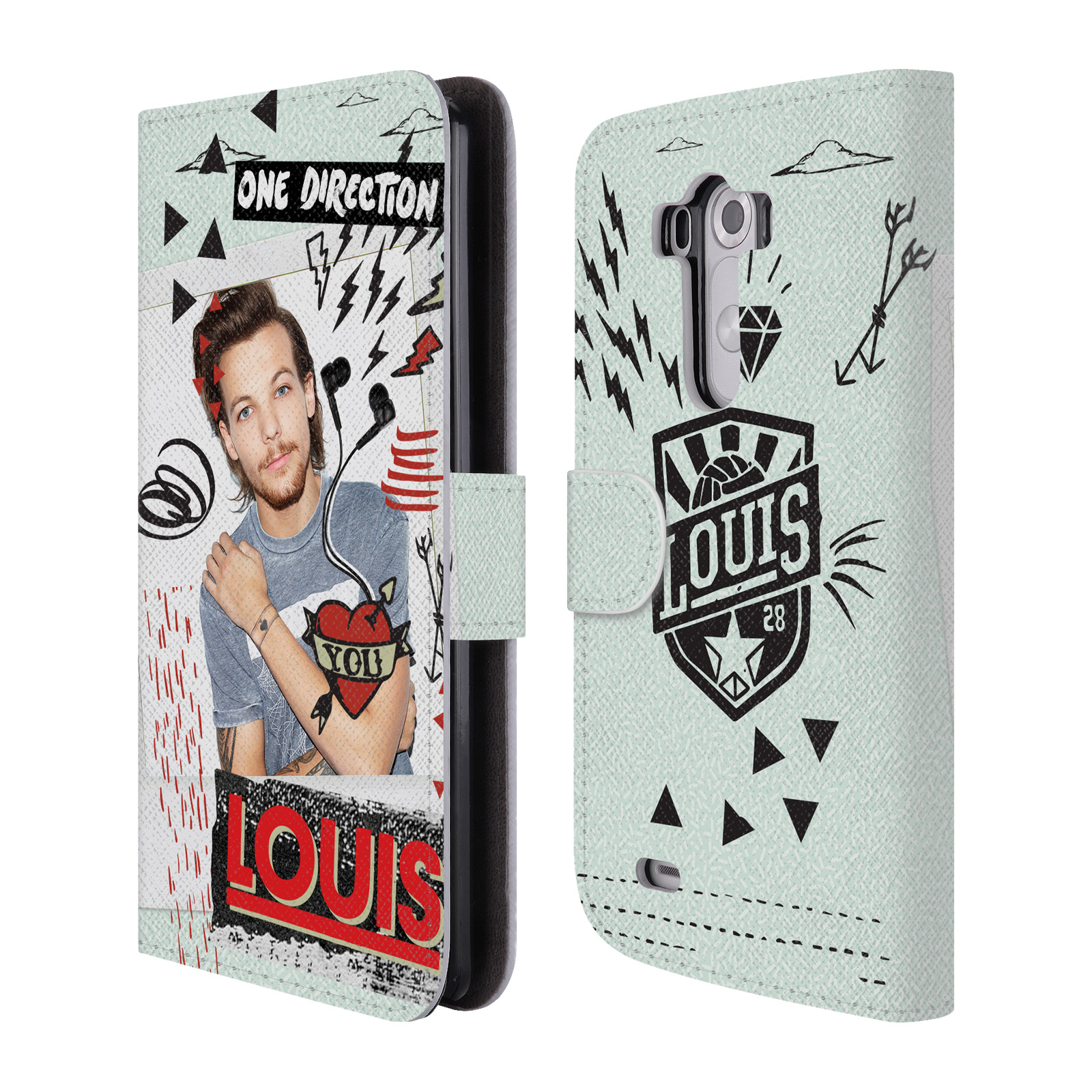 Officiel-One-Direction-1D-Midnight-Louis-cuir-Livre-etui-Pour-Telephones-LG-1