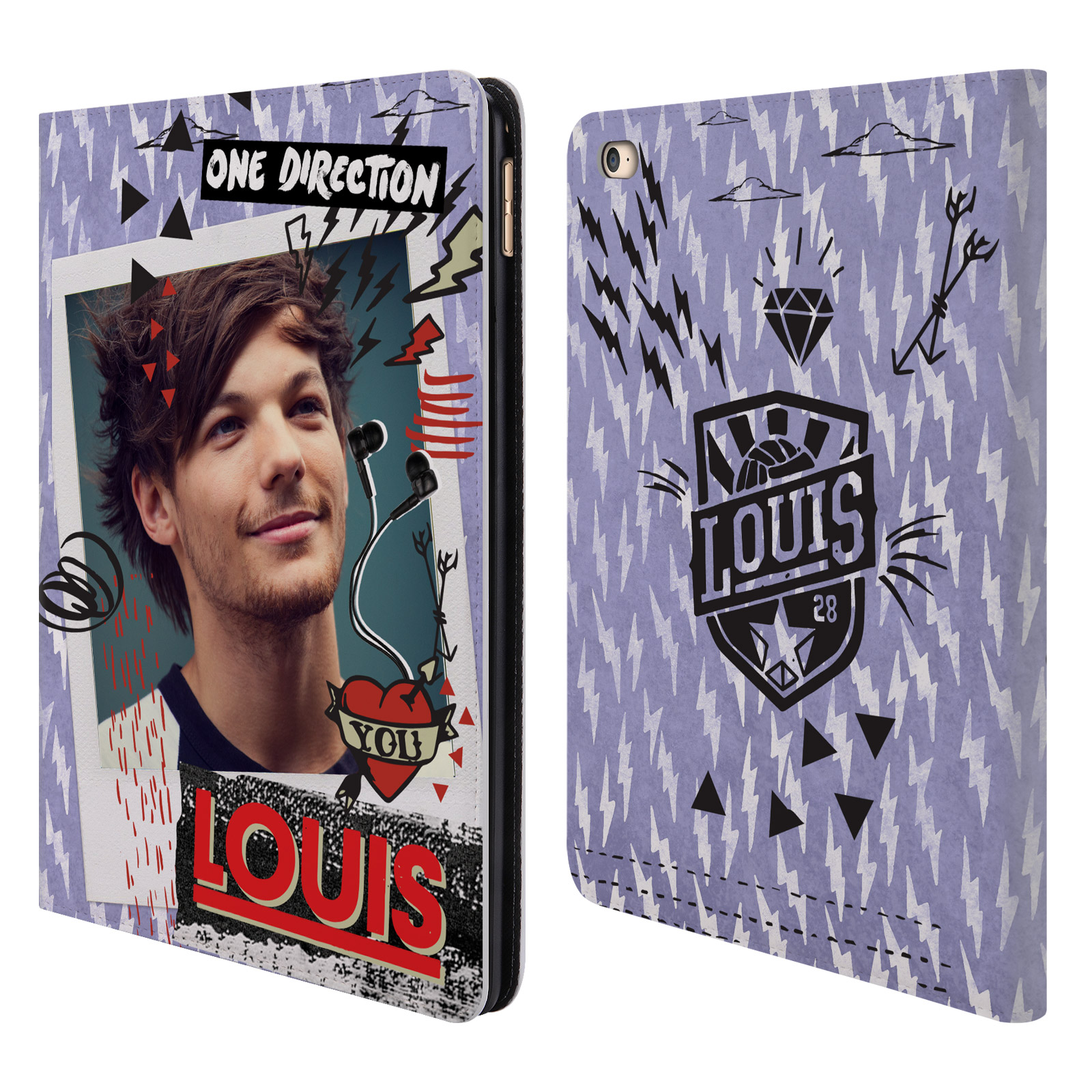 Officiel-One-Direction-1D-Midnight-Louis-cuir-Livre-etui-portefeuille-pour-Apple-iPad