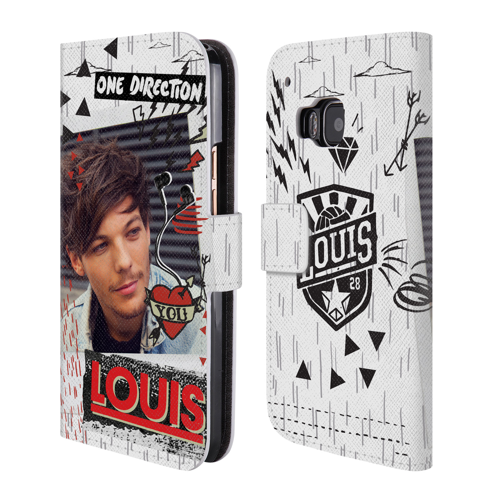 Officiel-One-Direction-1D-minuit-Louis-en-cuir-Livre-Etui-Pour-HTC-Phone-1