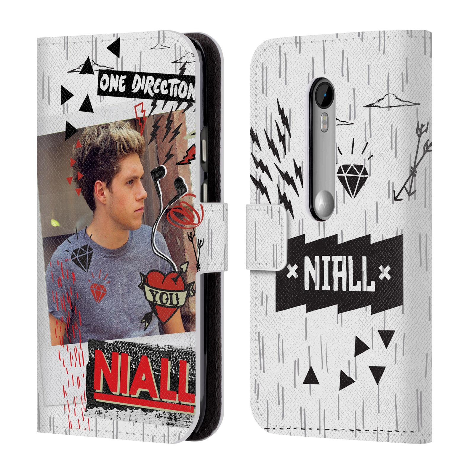 Officiel-One-Direction-1D-Midnight-Niall-livre-en-cuir-cas-pour-les-telephones-Motorola