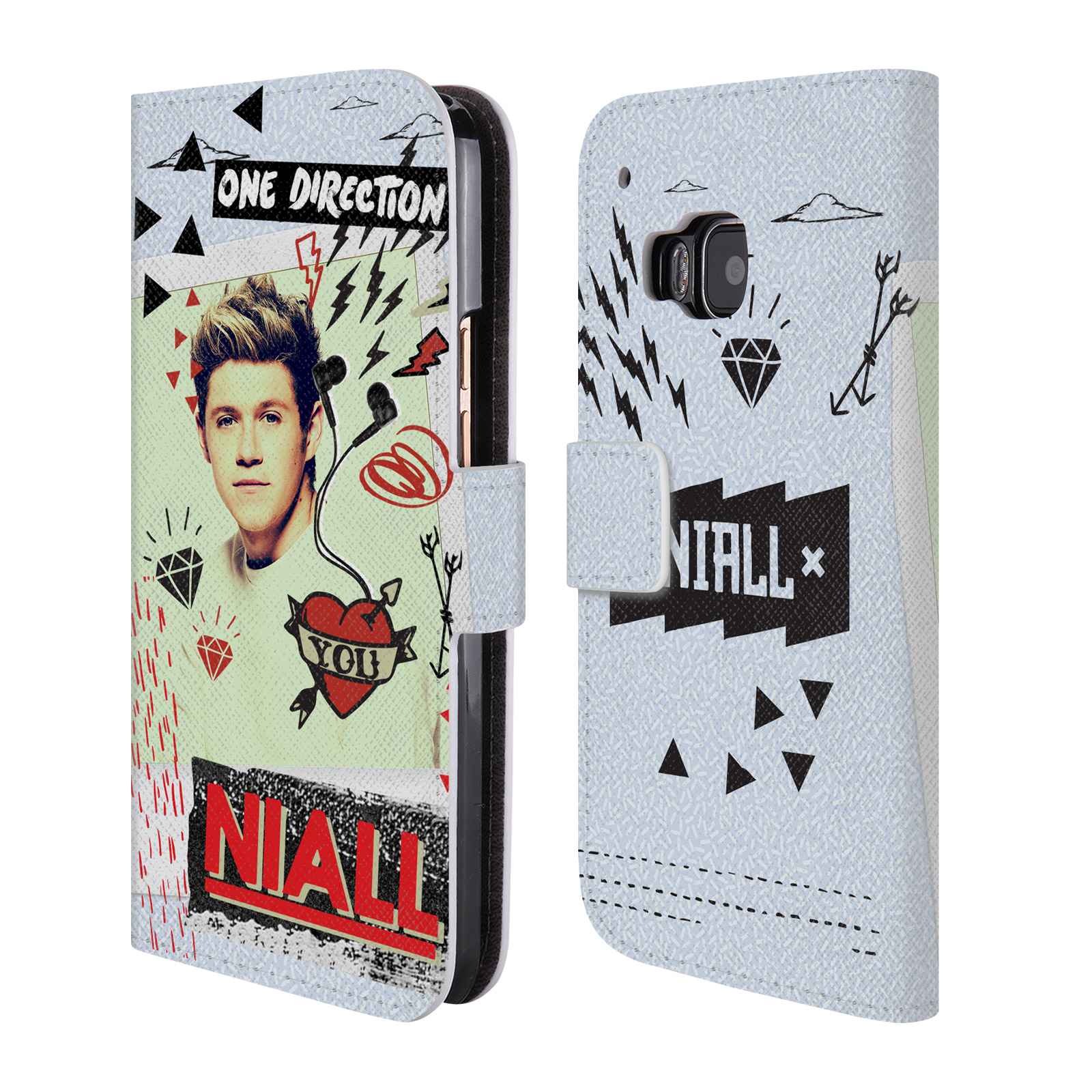 Officiel-One-Direction-1D-Midnight-Niall-cuir-Livre-etui-pour-telephones-htc-1