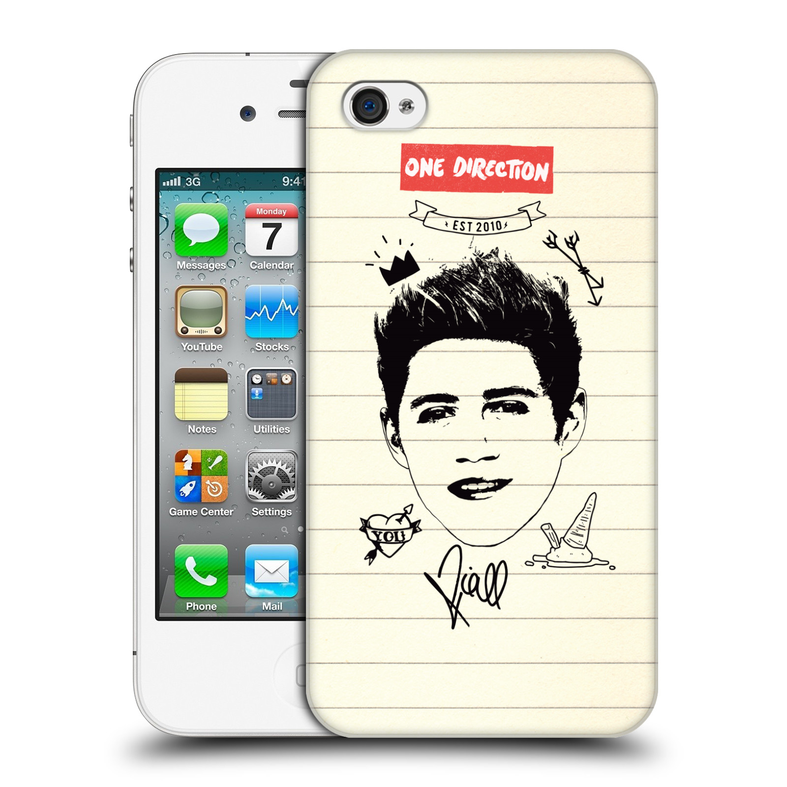 Ufficiale-One-Direction-1D-Notebook-in-Stile-Azteco-HARD-BACK-CASE-per-APPLE-IPHONE-4S