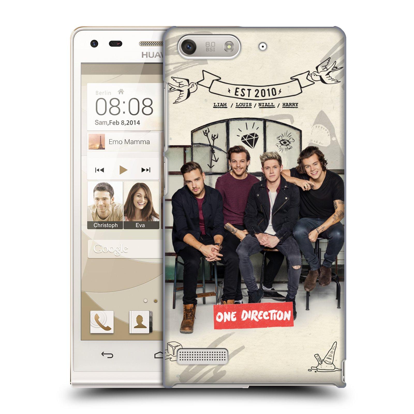 Plastové pouzdro na mobil Huawei Ascend G6 HEAD CASE One Direction - EST 2010 (Kryt či obal One Direction Official na mobilní telefon Huawei Ascend G6 bez LTE)