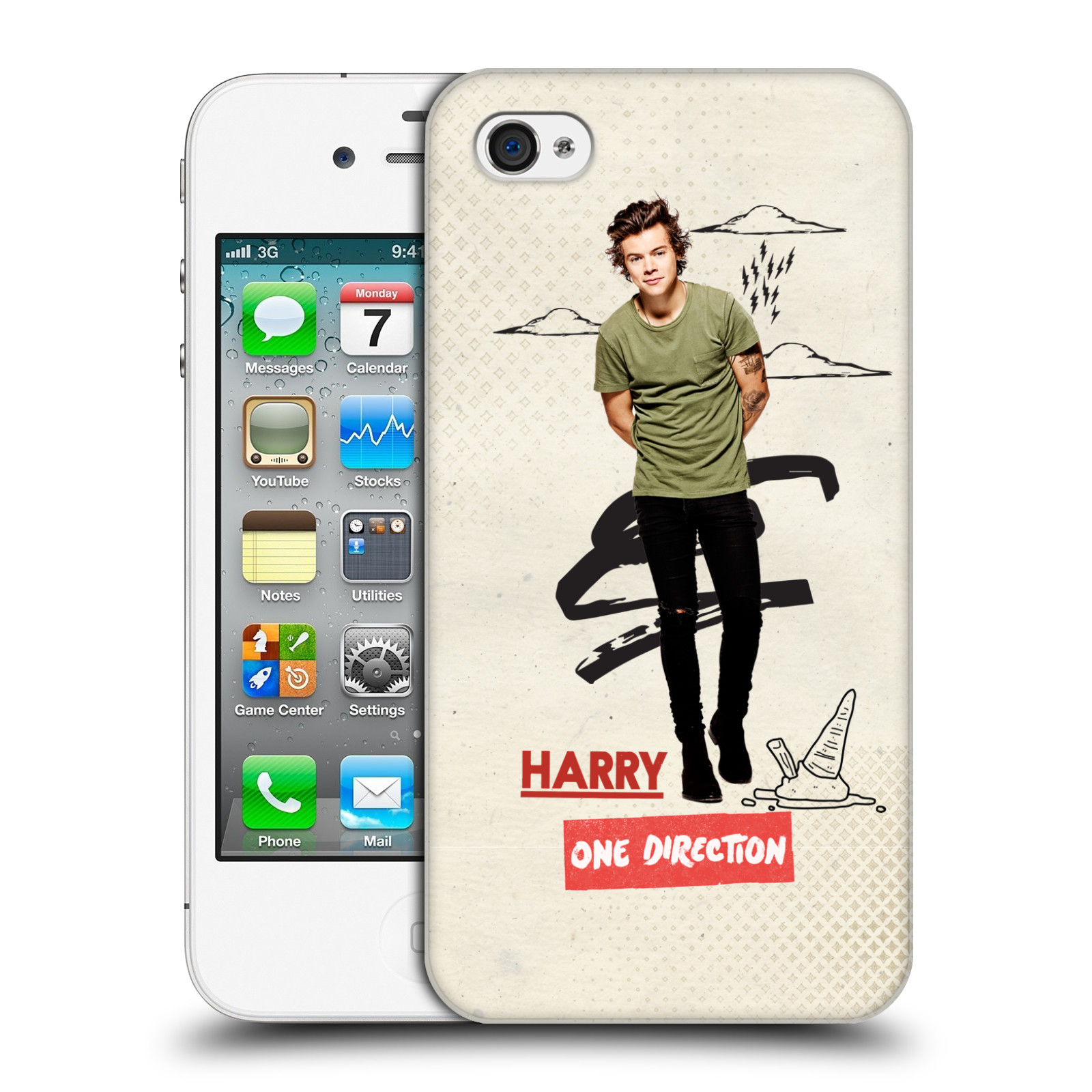 OFFICIAL-ONE-DIRECTION-1D-PHOTO-DOODLE-HARD-BACK-CASE-FOR-APPLE-iPHONE-4
