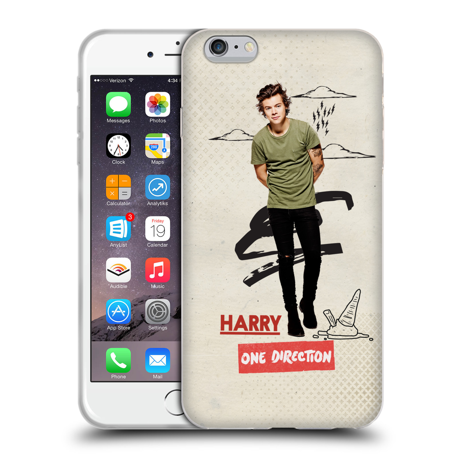 OFFICIAL ONE DIRECTION PHOTO DOODLE GEL CASE FOR