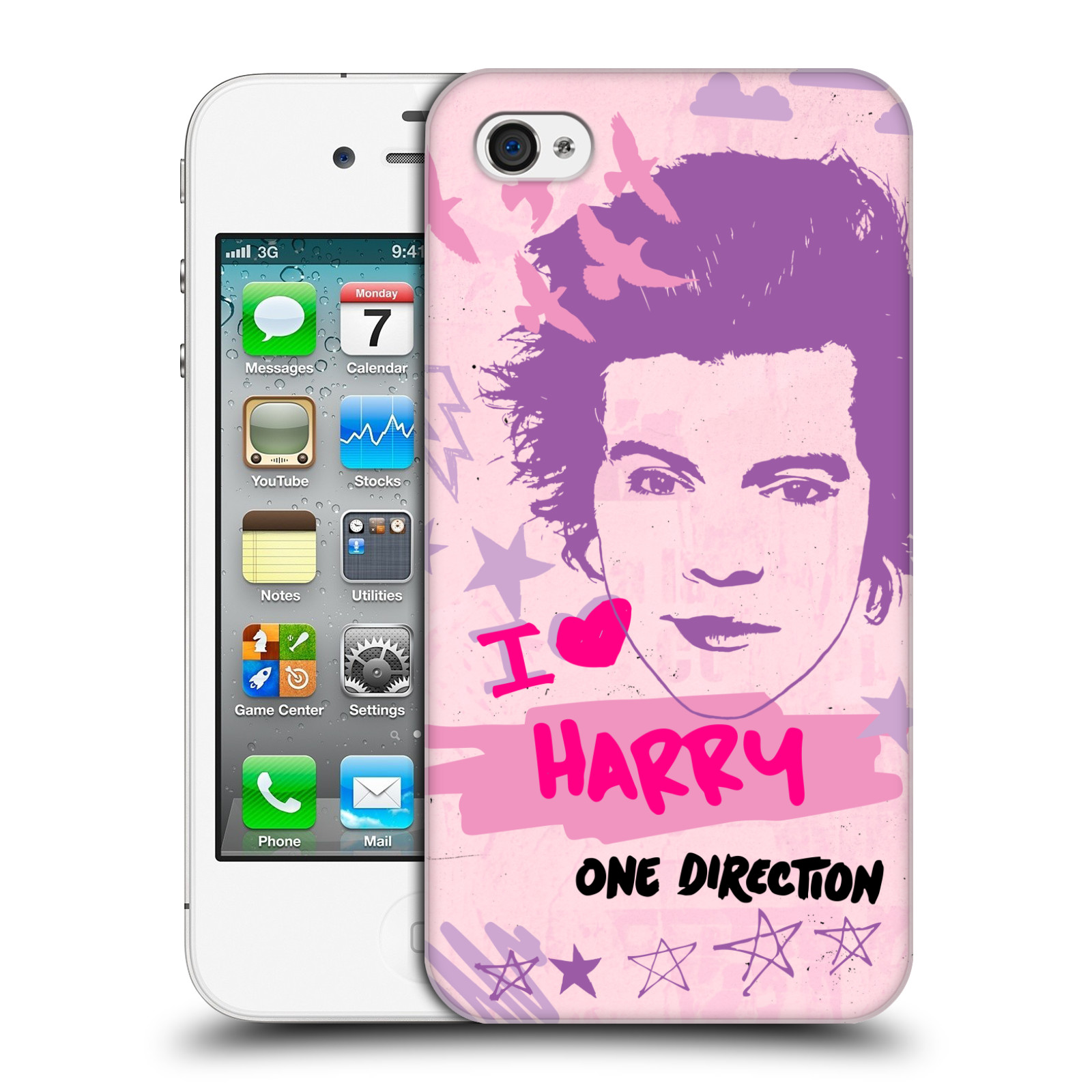 OFFICIAL-ONE-DIRECTION-1D-PINK-GRAPHIC-FACES-HARD-BACK-CASE-FOR-APPLE-iPHONE-4