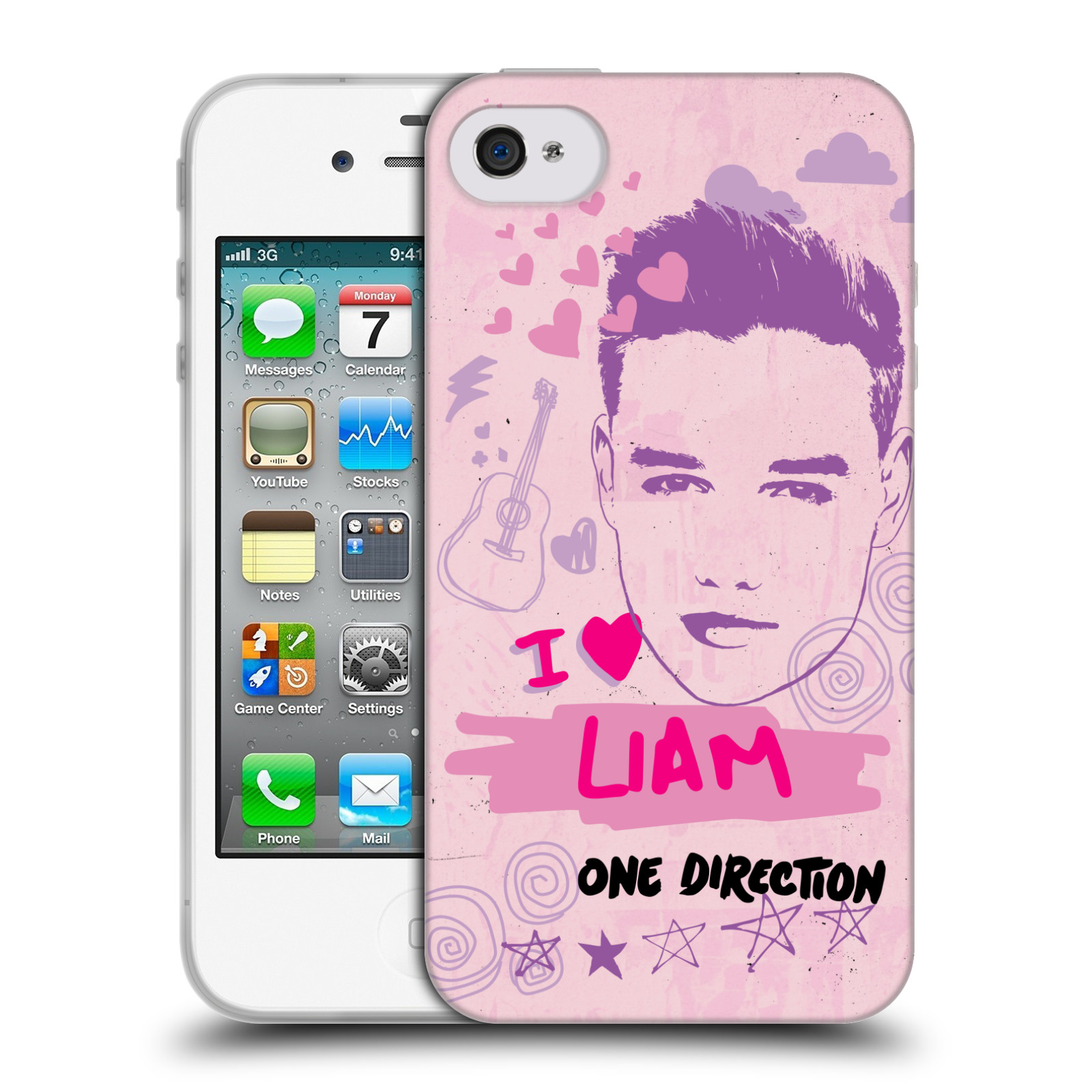 OFFICIAL-ONE-DIRECTION-1D-PINK-GRAPHIC-FACES-SOFT-GEL-CASE-FOR-APPLE-iPHONE-4S