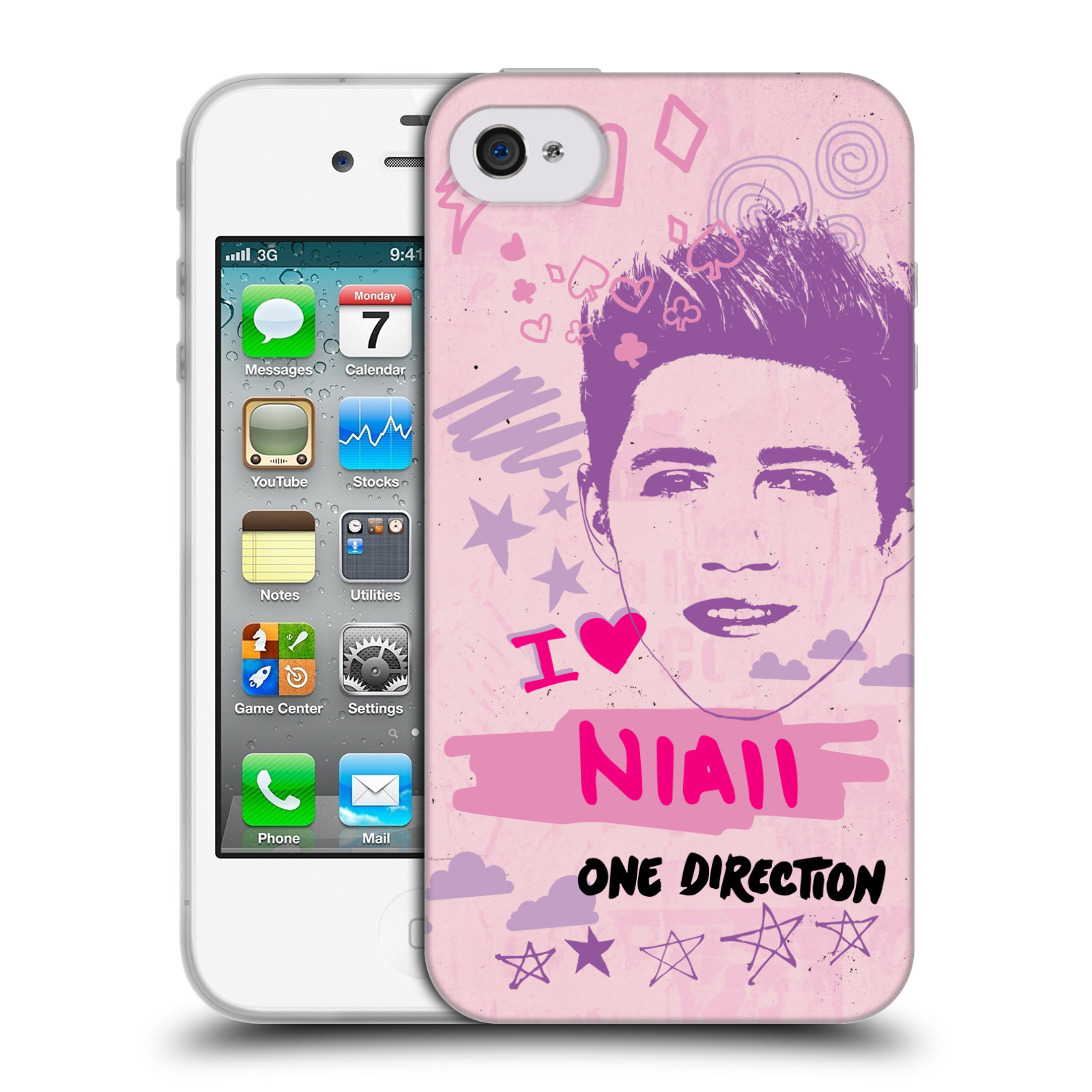 OFFICIAL-ONE-DIRECTION-1D-PINK-GRAPHIC-FACES-SOFT-GEL-CASE-FOR-APPLE-iPHONE-4