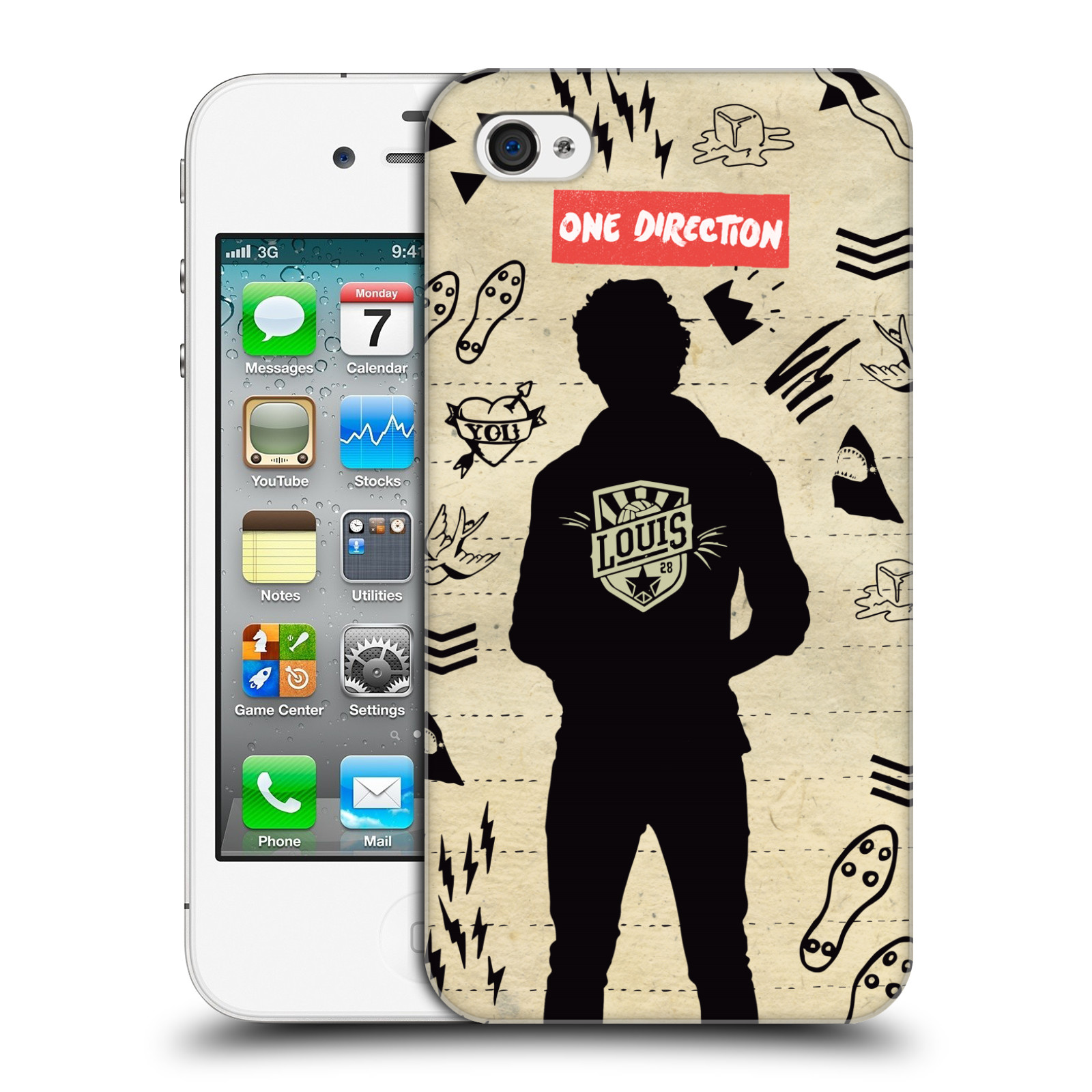 Ufficiale-One-Direction-1D-SILHOUETTES-HARD-BACK-CASE-per-APPLE-IPHONE-4S