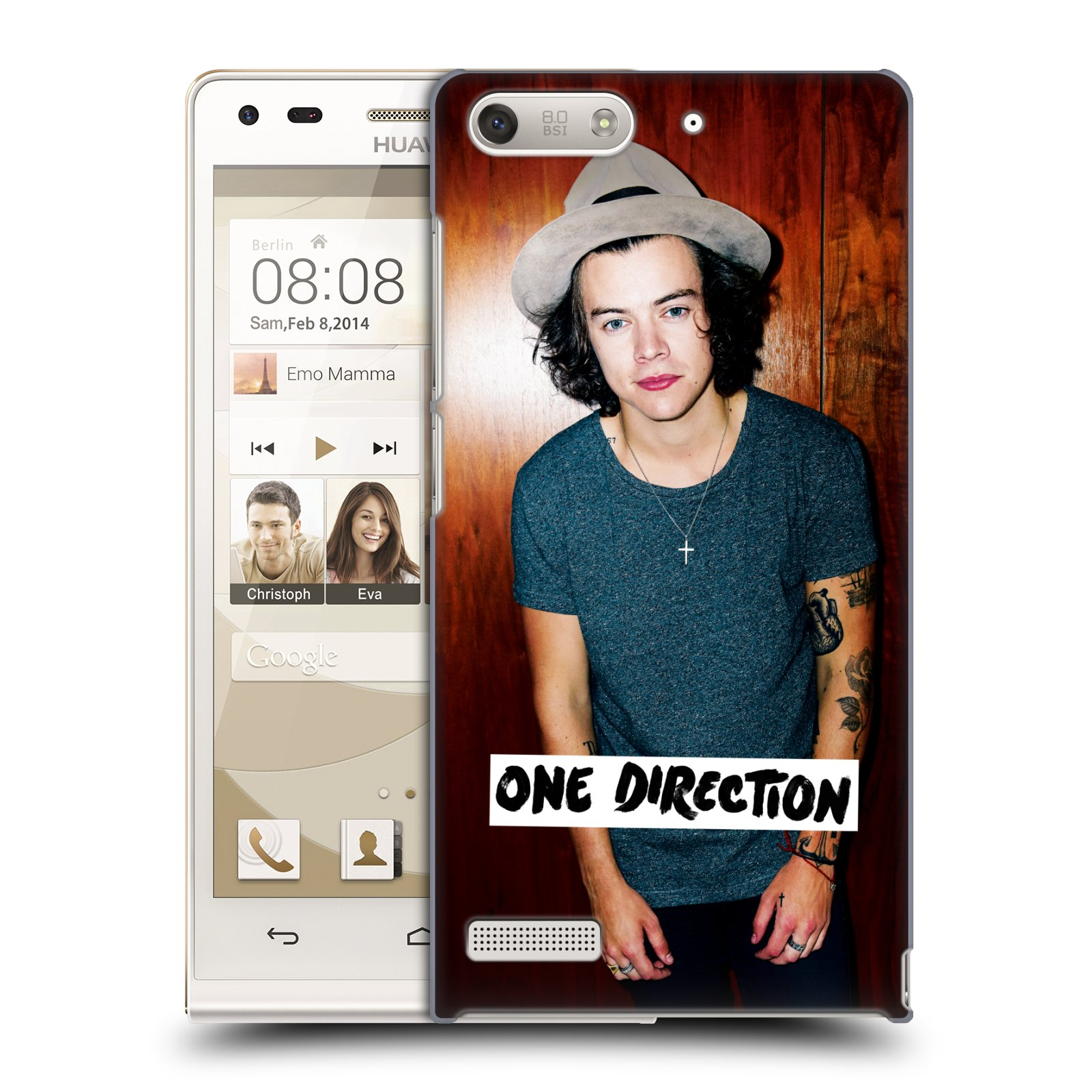 Plastové pouzdro na mobil Huawei Ascend G6 HEAD CASE One Direction - Harry (Kryt či obal One Direction Official na mobilní telefon Huawei Ascend G6 bez LTE)