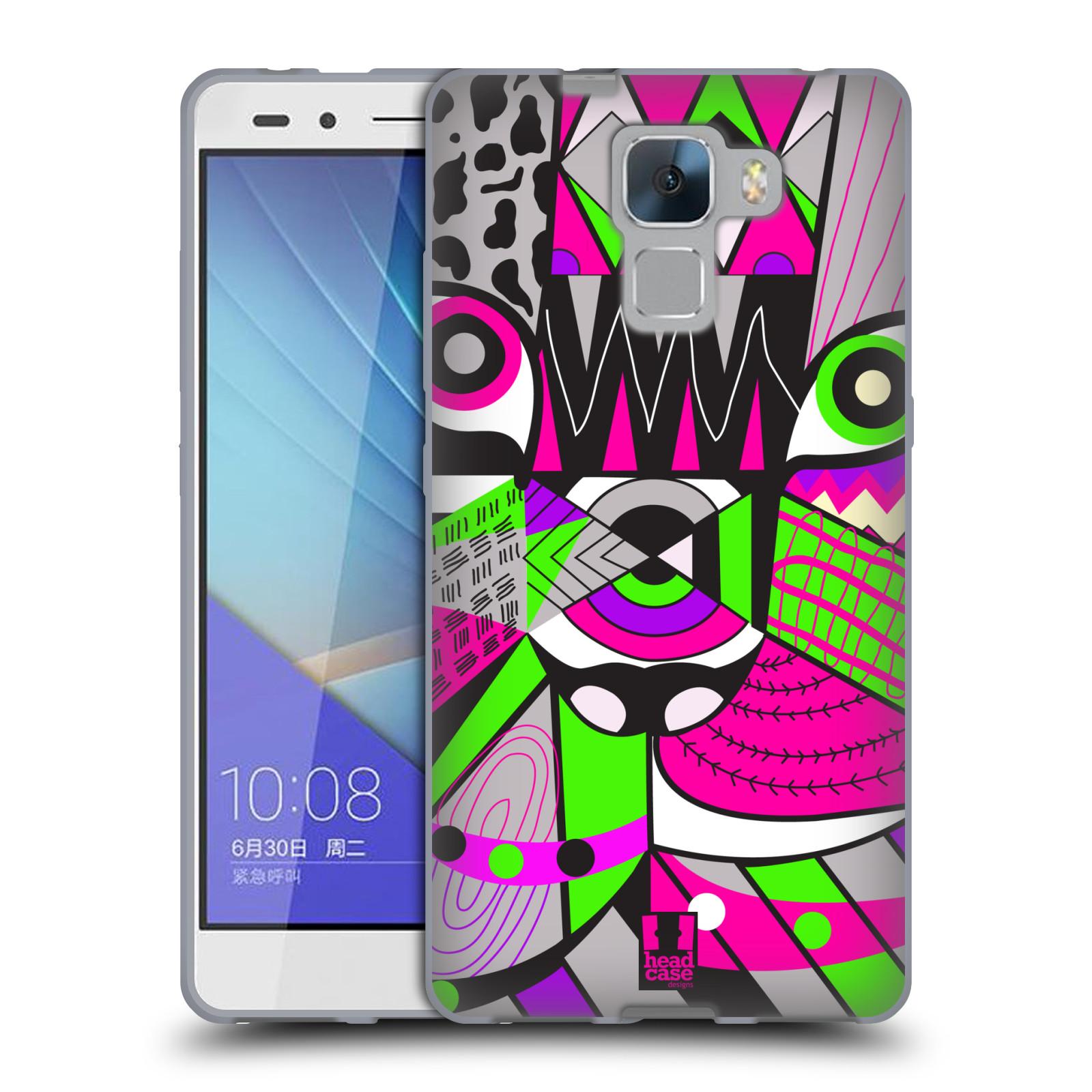 HEAD CASE silikonový obal na mobil Huawei Honor HONOR 7 Abstraktní zvířátka KOČKA