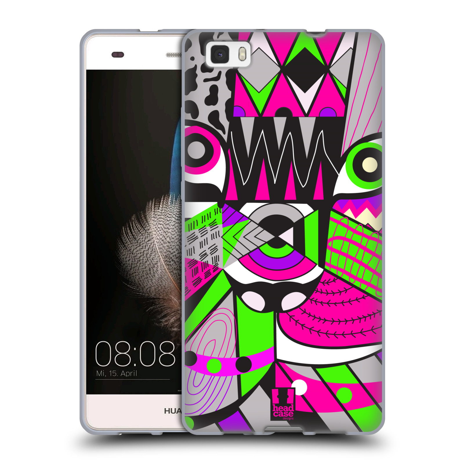 HEAD CASE silikonový obal na mobil Huawei Ascend P8 LITE Abstraktní zvířátka KOČKA