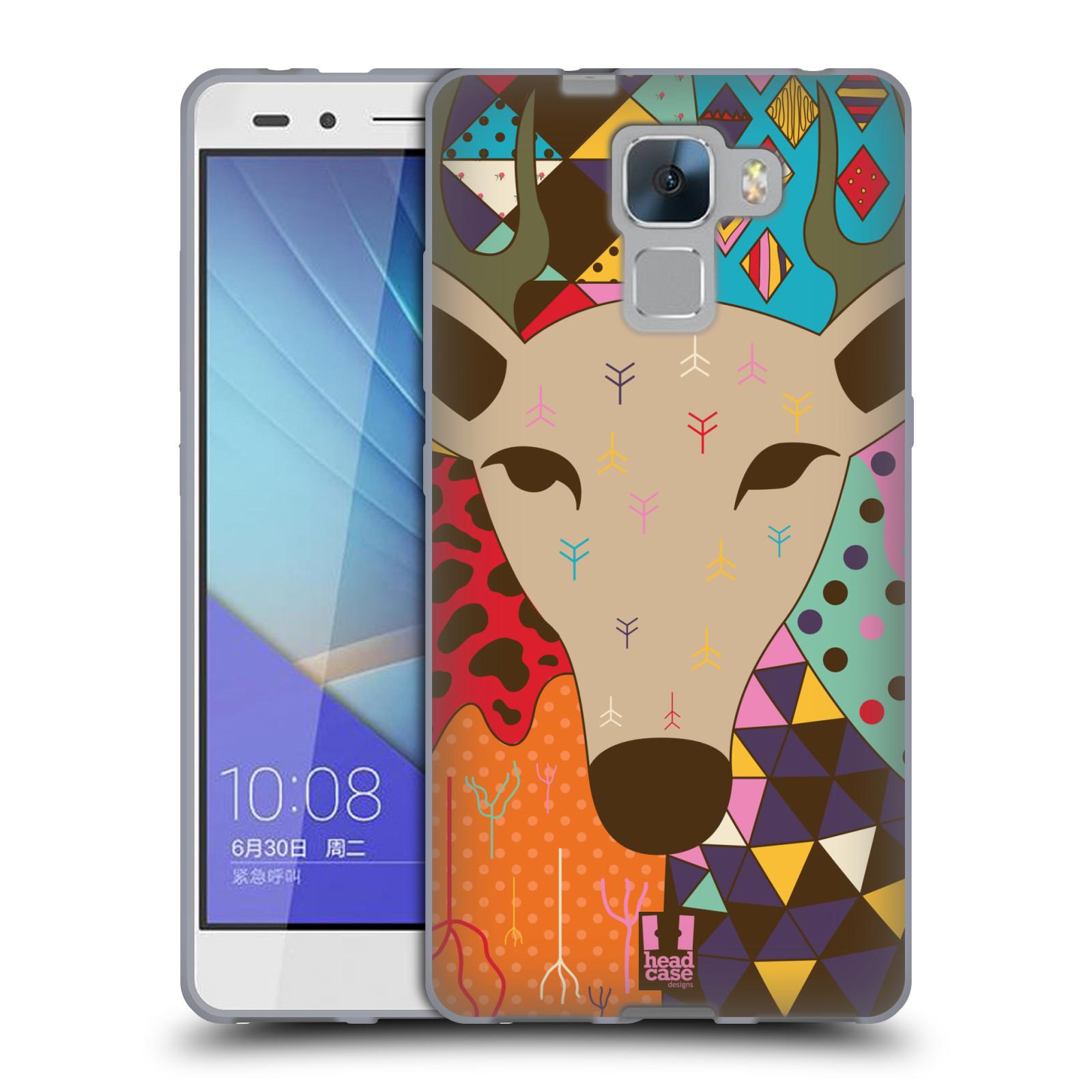 HEAD CASE silikonový obal na mobil Huawei Honor HONOR 7 Abstraktní zvířátka JELEN