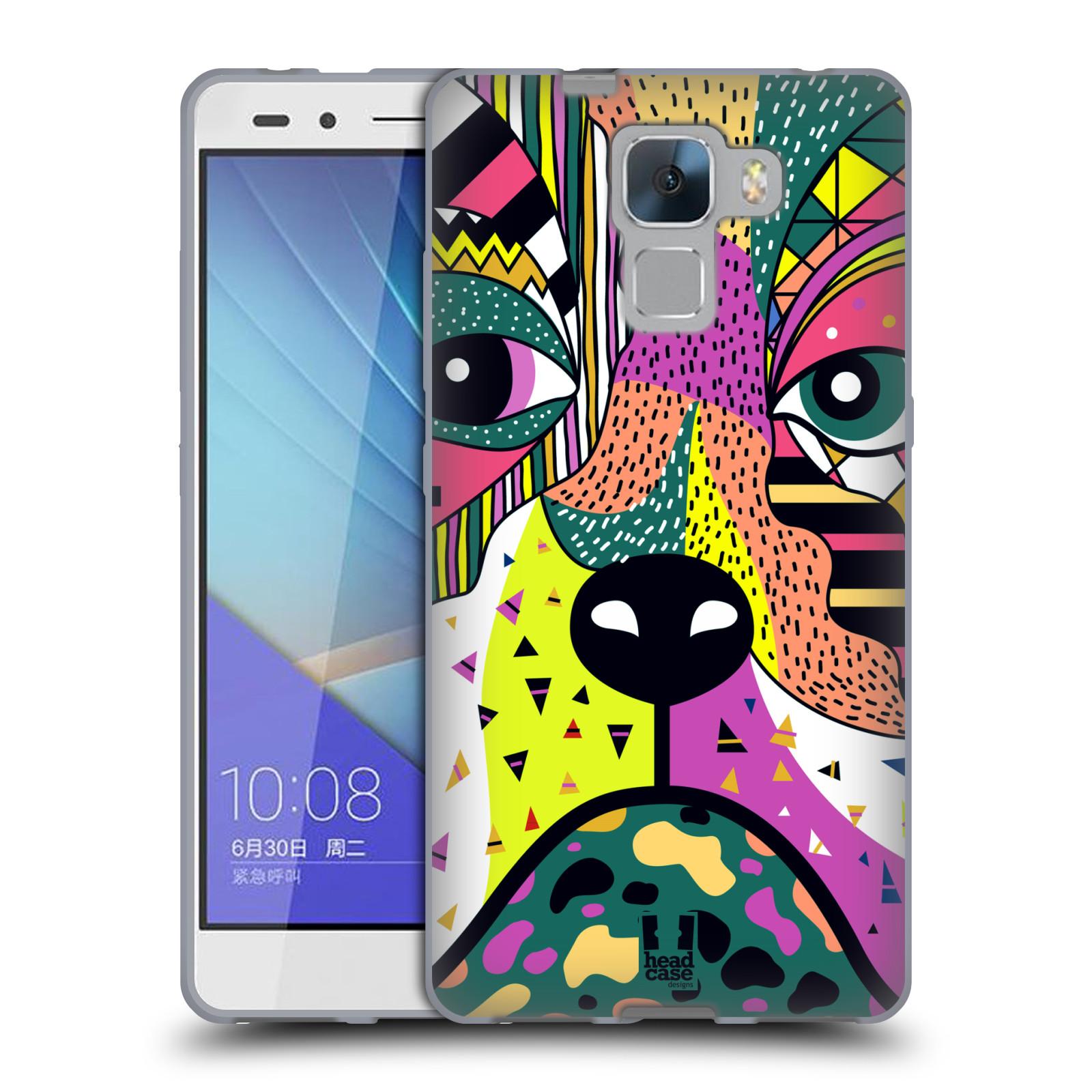 HEAD CASE silikonový obal na mobil Huawei Honor HONOR 7 Abstraktní zvířátka PES