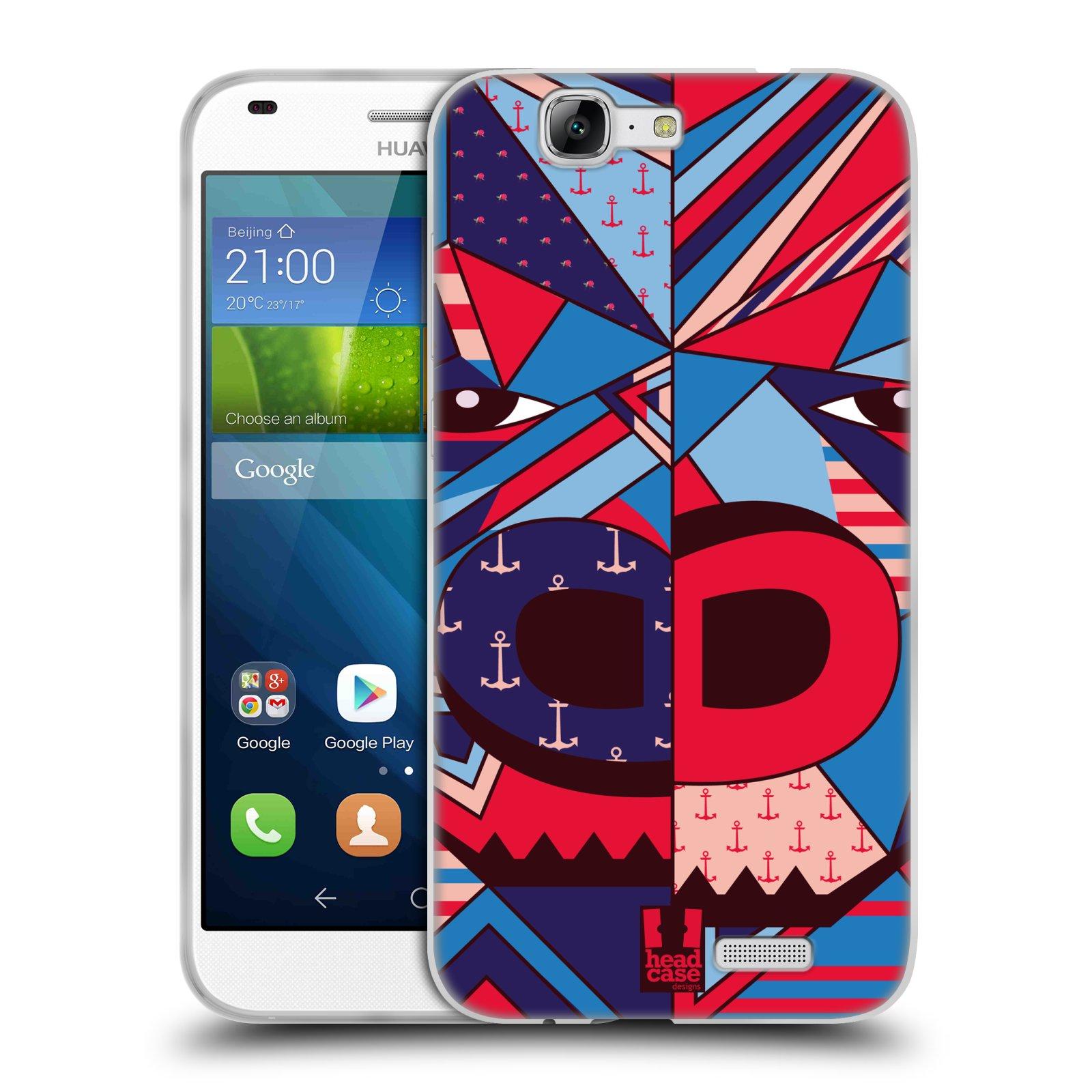 HEAD CASE silikonový obal na mobil Huawei Ascend G7 Abstraktní zvířátka GORILA