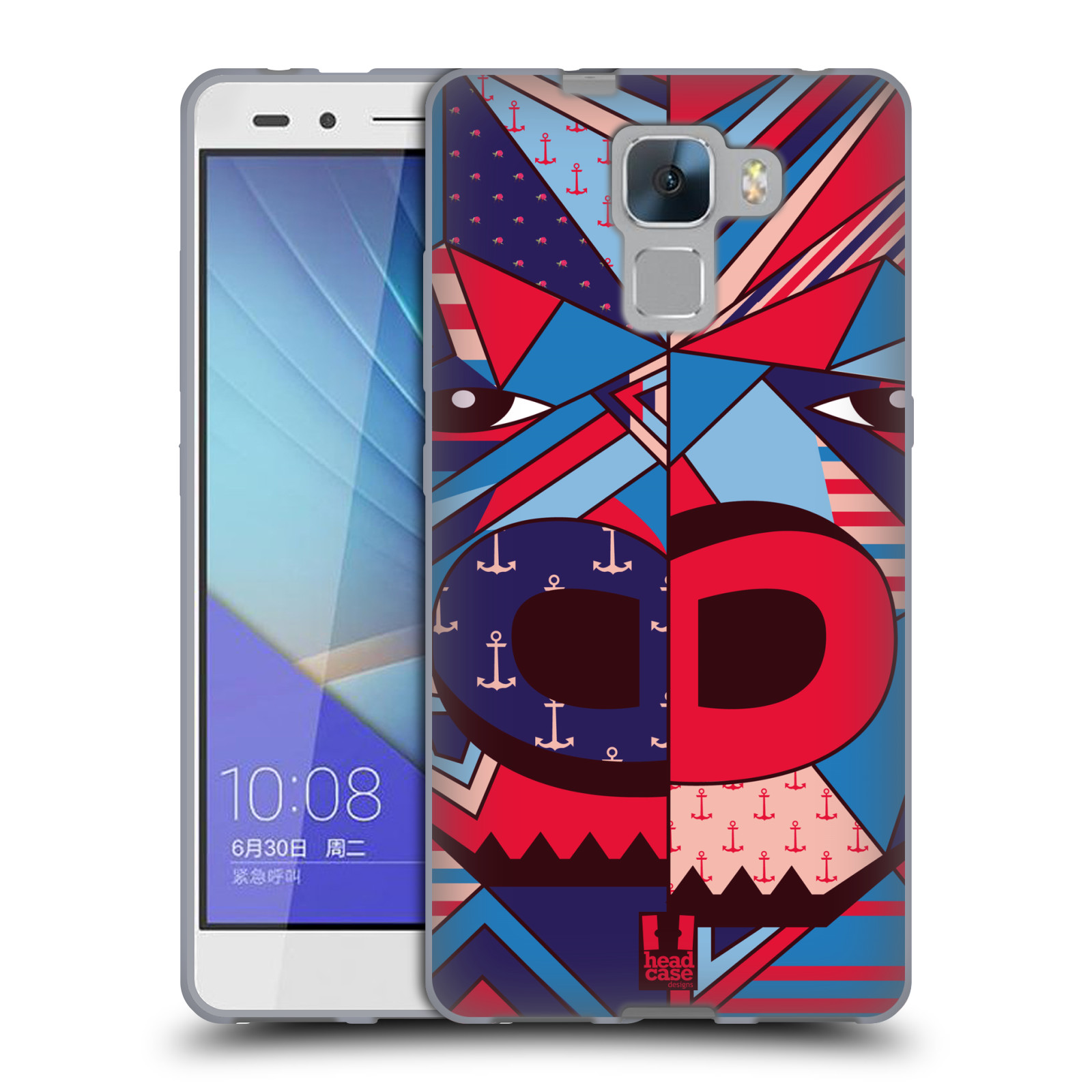 HEAD CASE silikonový obal na mobil Huawei Honor HONOR 7 Abstraktní zvířátka GORILA