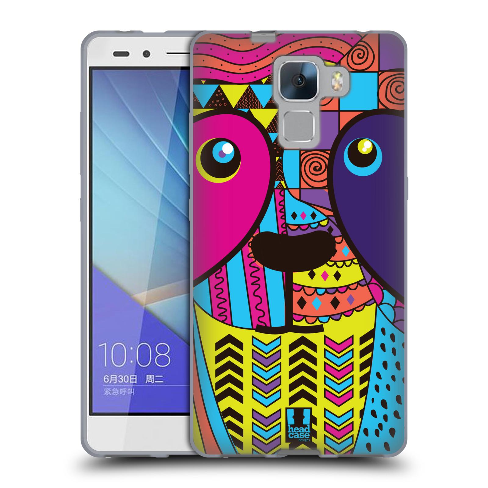 HEAD CASE silikonový obal na mobil Huawei Honor HONOR7 Abstraktní zvířátka PANDA