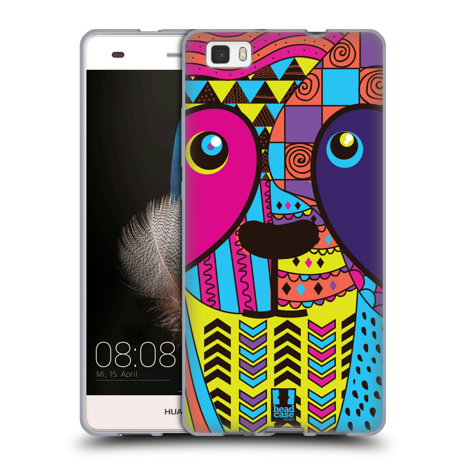 HEAD CASE silikonový obal na mobil Huawei Ascend P8 LITE Abstraktní zvířátka PANDA