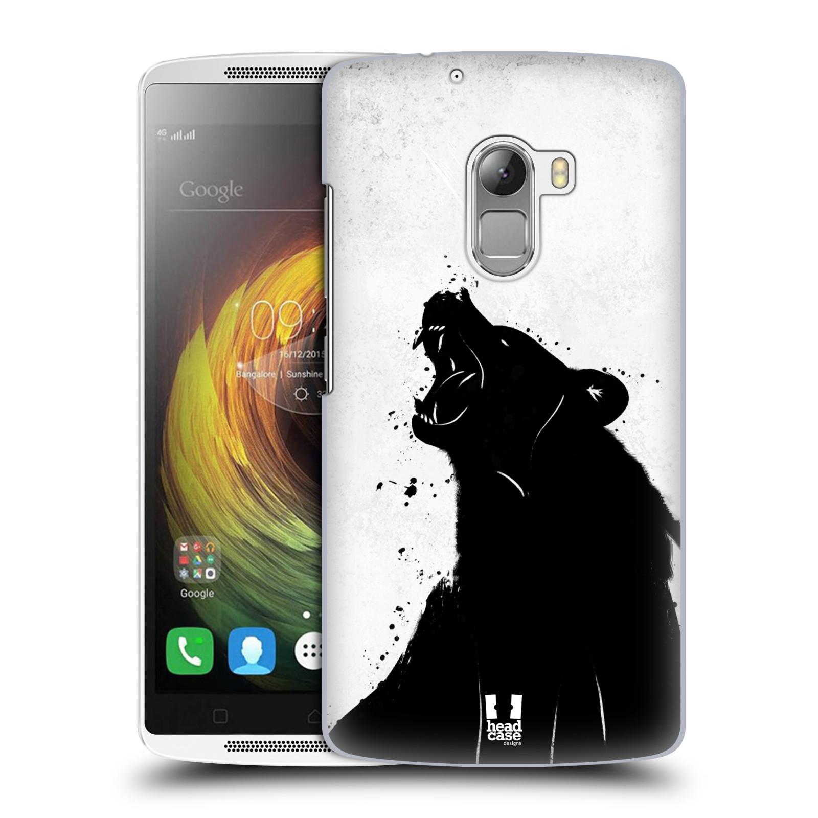 HEAD CASE pevný plastový obal na mobil LENOVO A7010 / A7010 DUAL / K4 Note / Vibe X3 lite vzor Kresba tuš zvíře medvěd