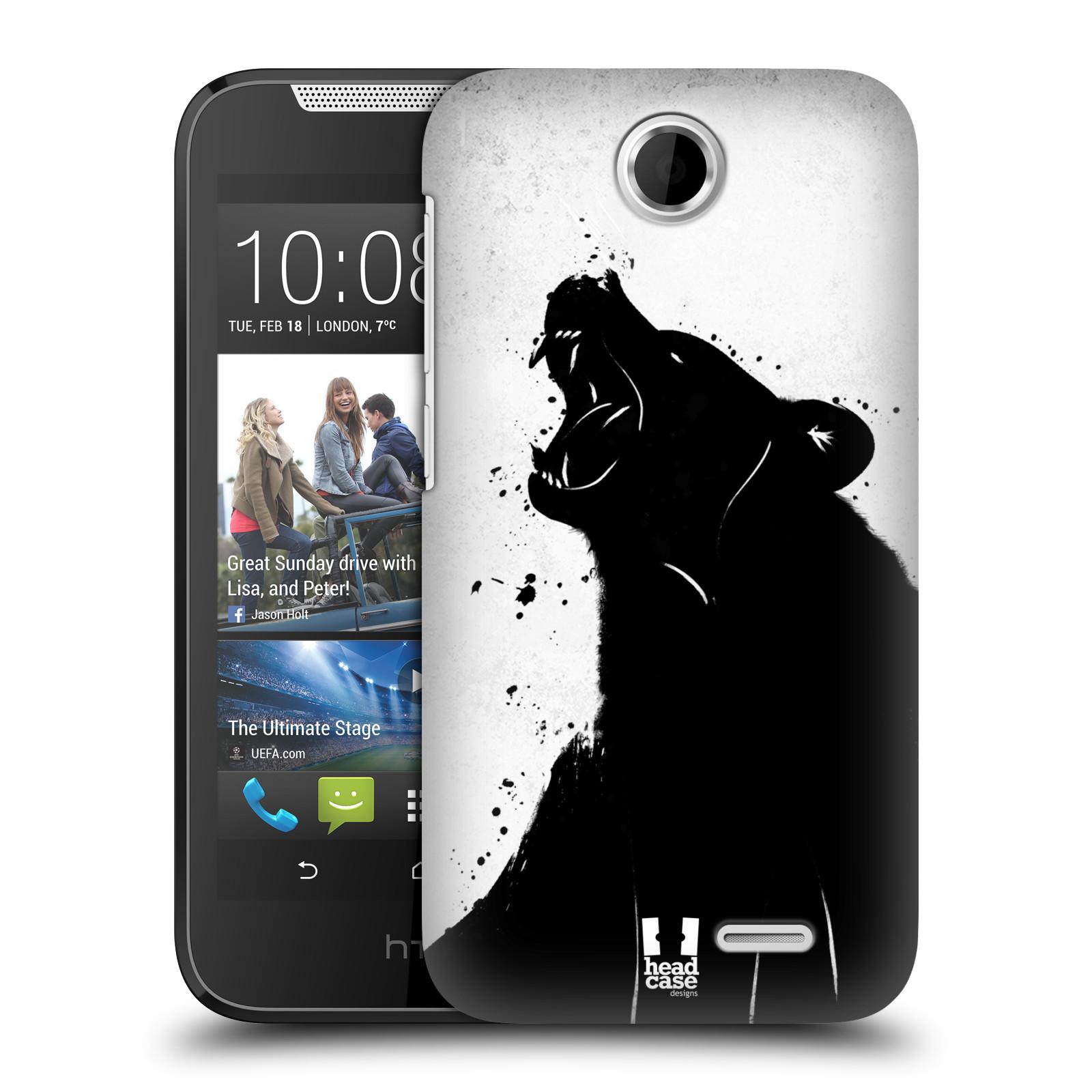 HEAD CASE plastový obal na mobil HTC Desire 310 vzor Kresba tuš zvíře medvěd