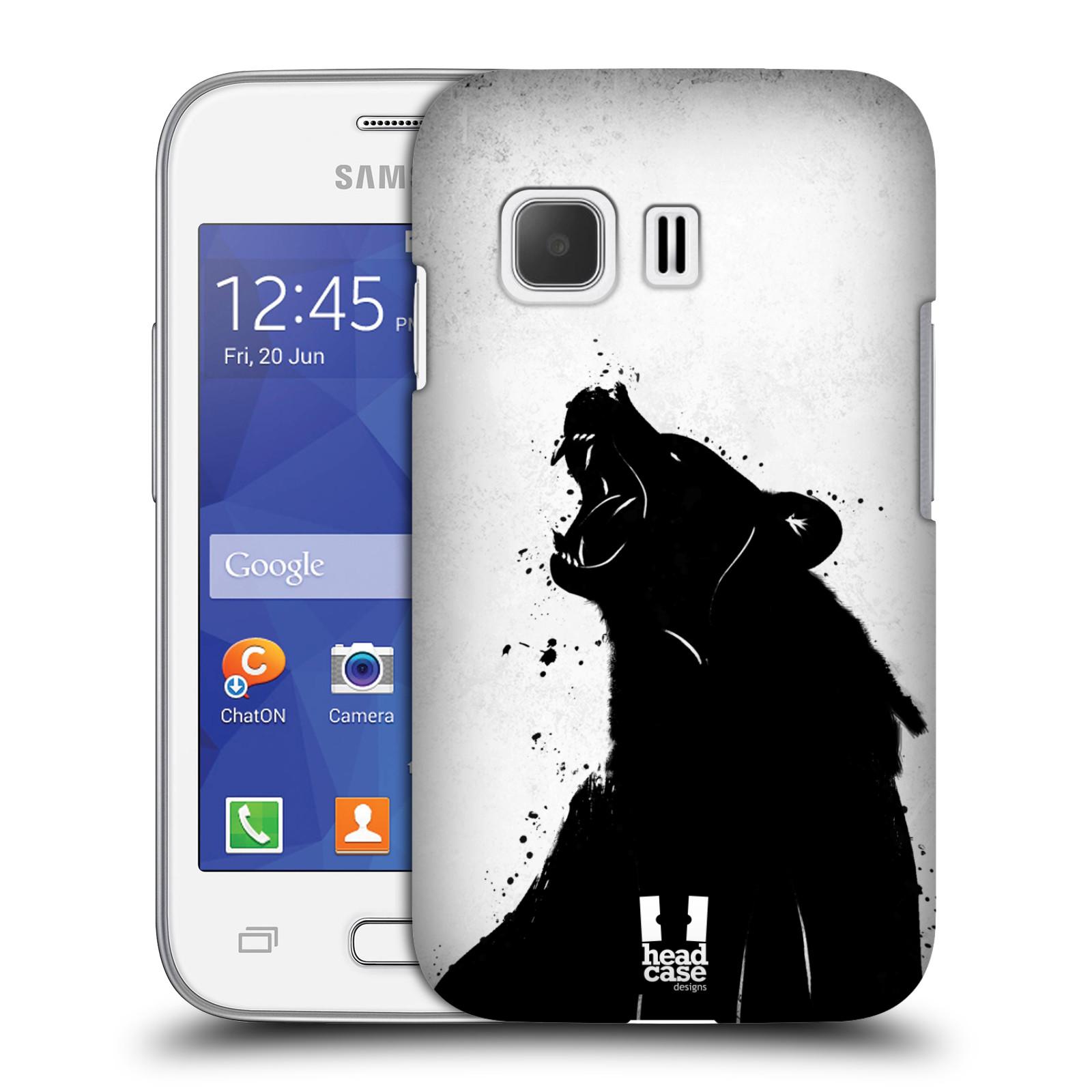HEAD CASE plastový obal na mobil SAMSUNG Galaxy Young 2 (G130) vzor Kresba tuš zvíře medvěd