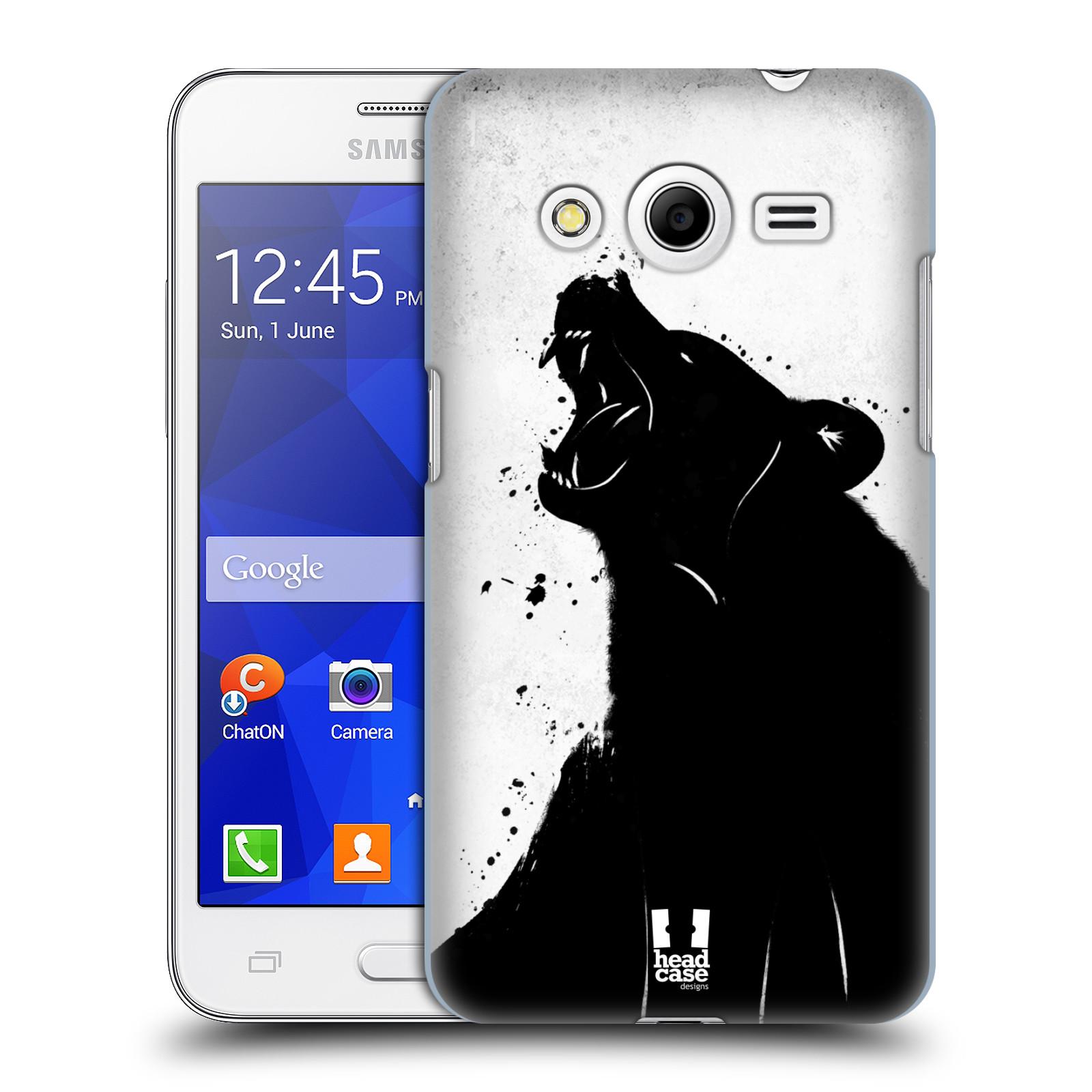 HEAD CASE plastový obal na mobil SAMSUNG GALAXY Core 2 (G355H) vzor Kresba tuš zvíře medvěd
