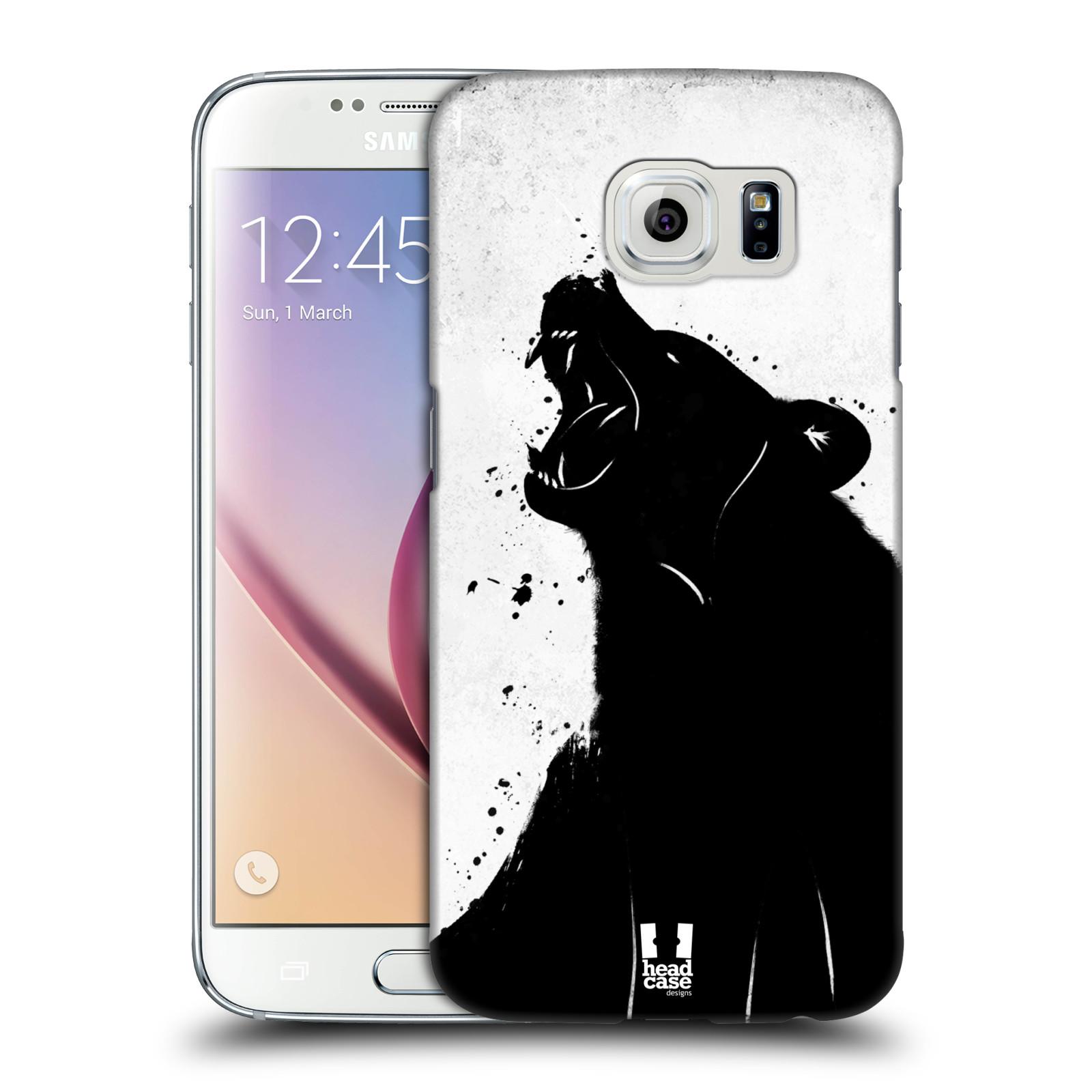 HEAD CASE plastový obal na mobil SAMSUNG Galaxy S6 (G9200, G920F) vzor Kresba tuš zvíře medvěd