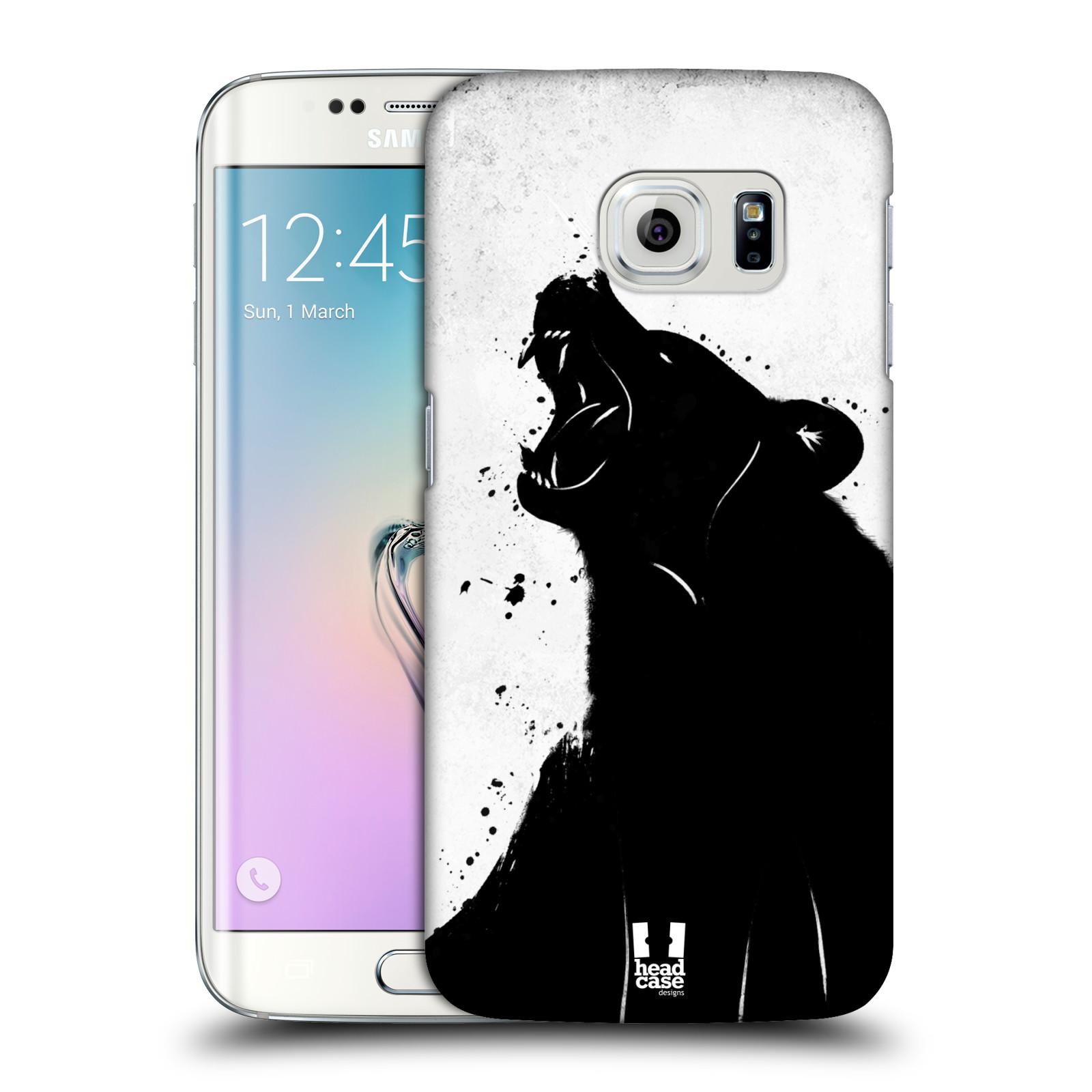 HEAD CASE plastový obal na mobil SAMSUNG Galaxy S6 EDGE (G9250, G925, G925F) vzor Kresba tuš zvíře medvěd