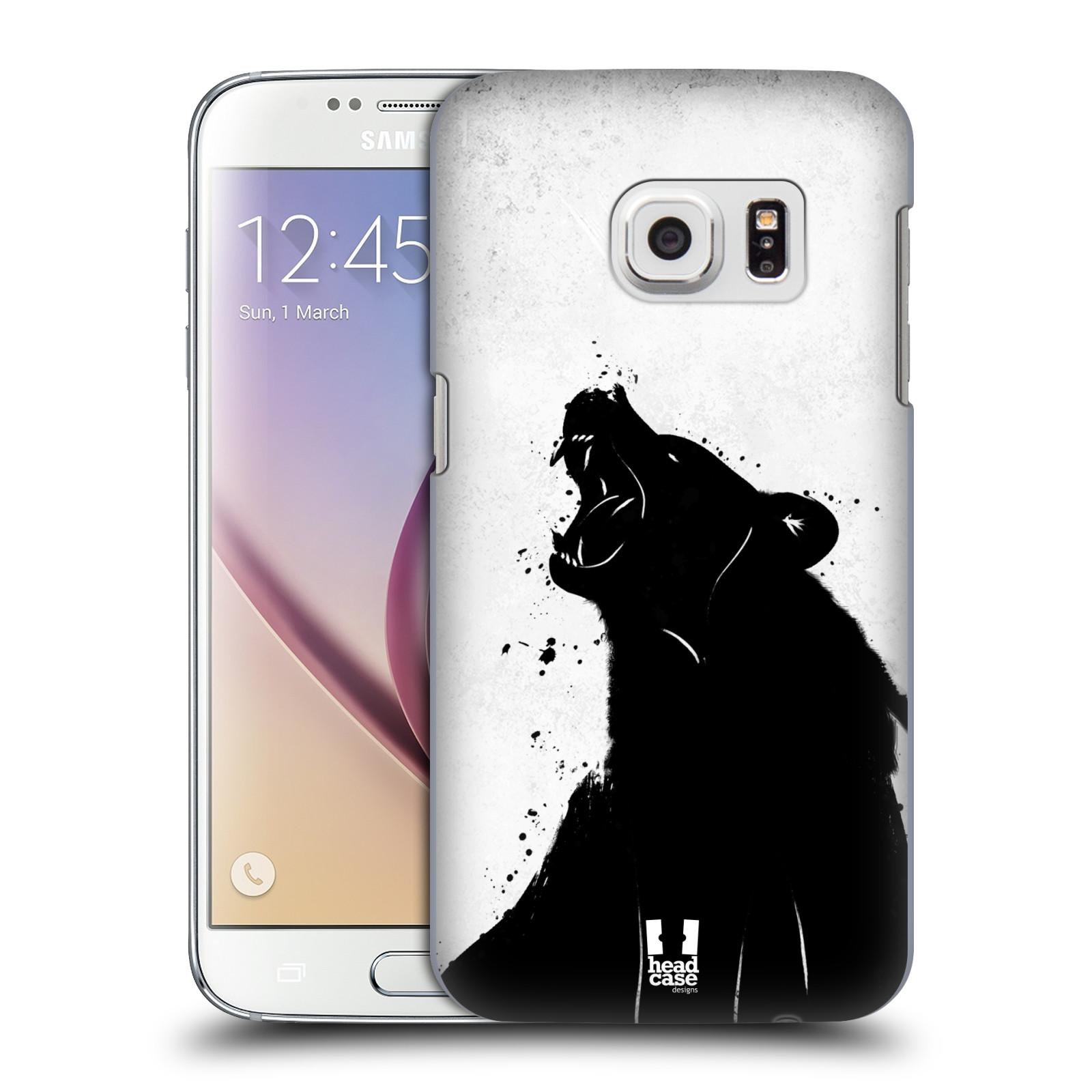 HEAD CASE plastový obal na mobil SAMSUNG GALAXY S7 vzor Kresba tuš zvíře medvěd
