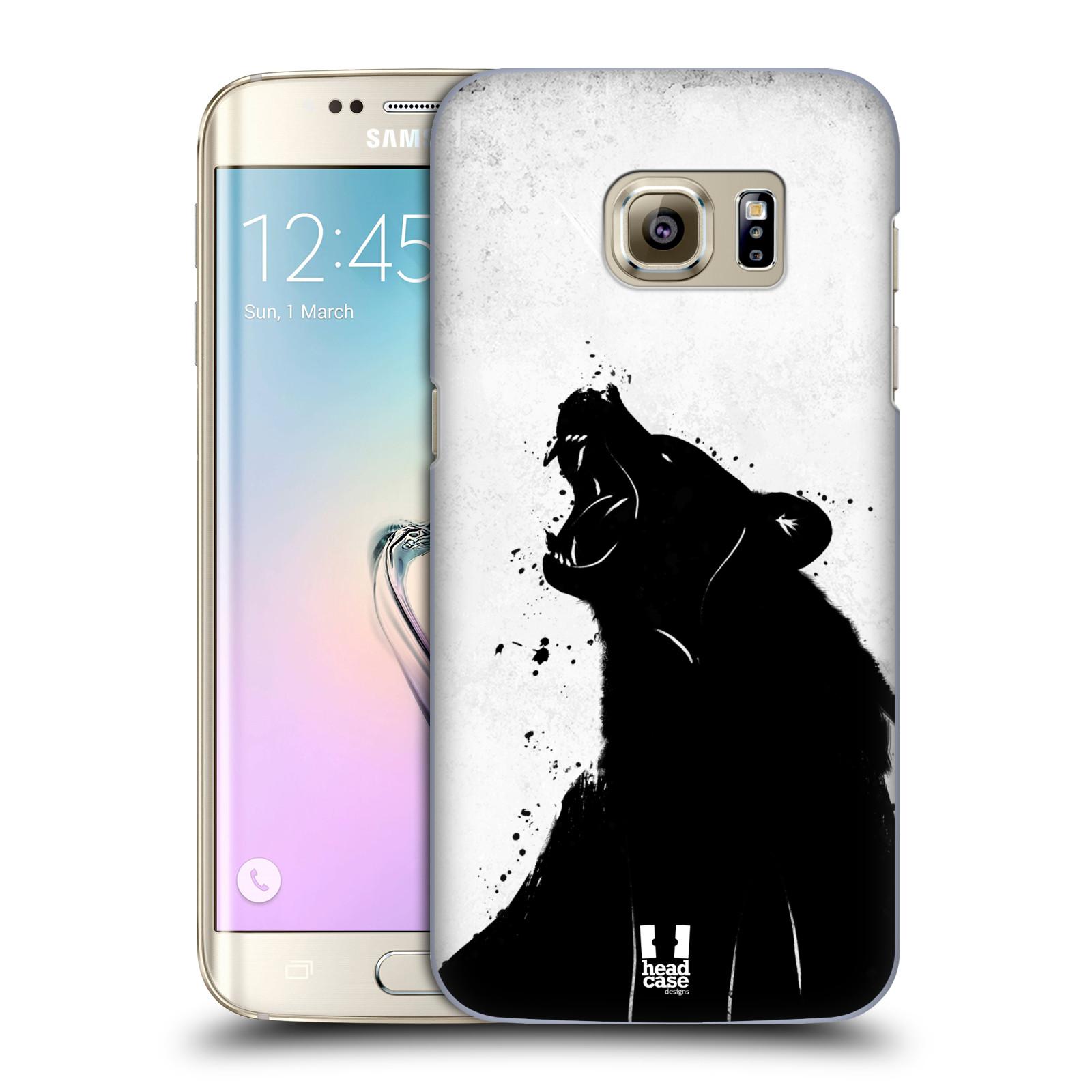 HEAD CASE plastový obal na mobil SAMSUNG GALAXY S7 EDGE vzor Kresba tuš zvíře medvěd