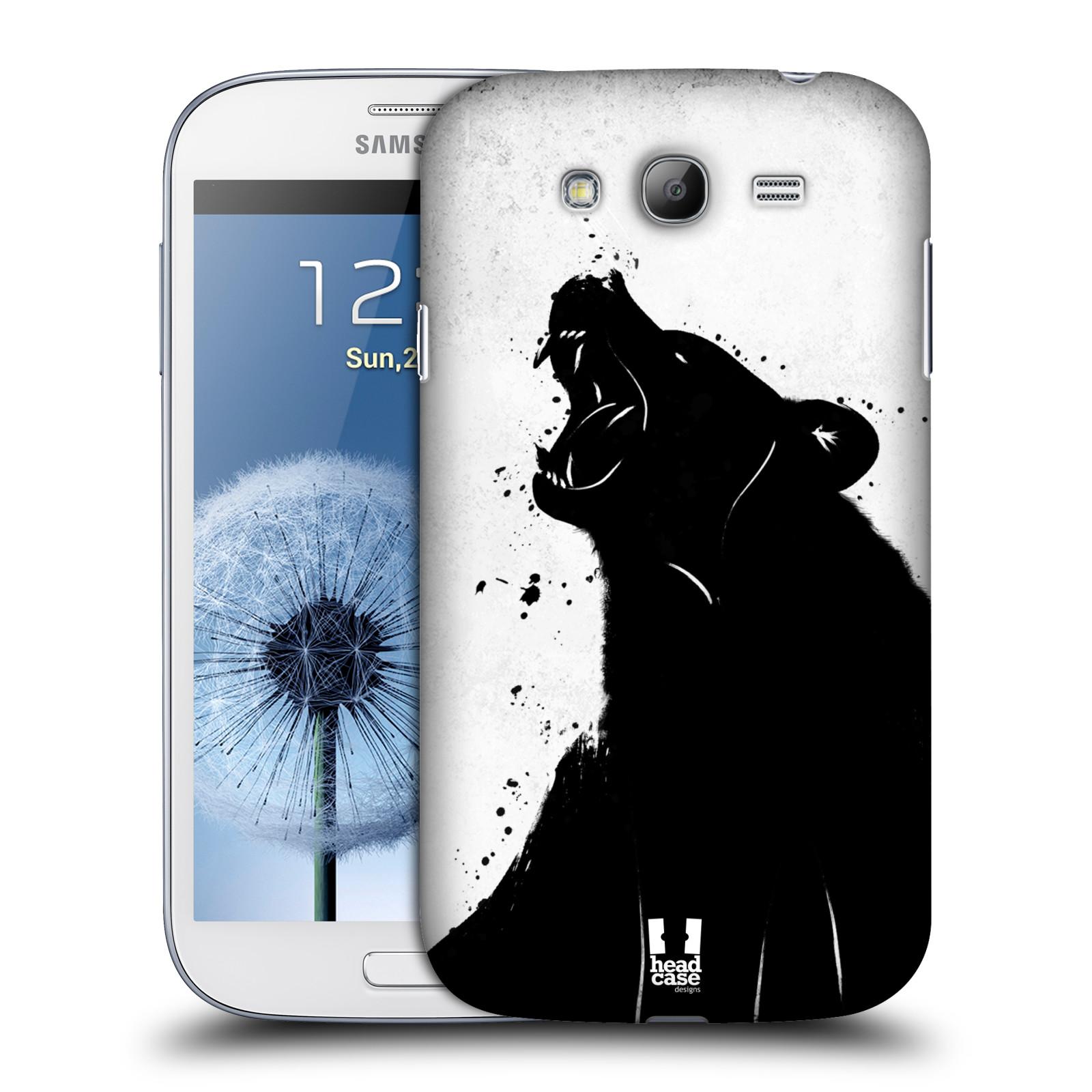 HEAD CASE plastový obal na mobil SAMSUNG GALAXY Grand i9080 vzor Kresba tuš zvíře medvěd