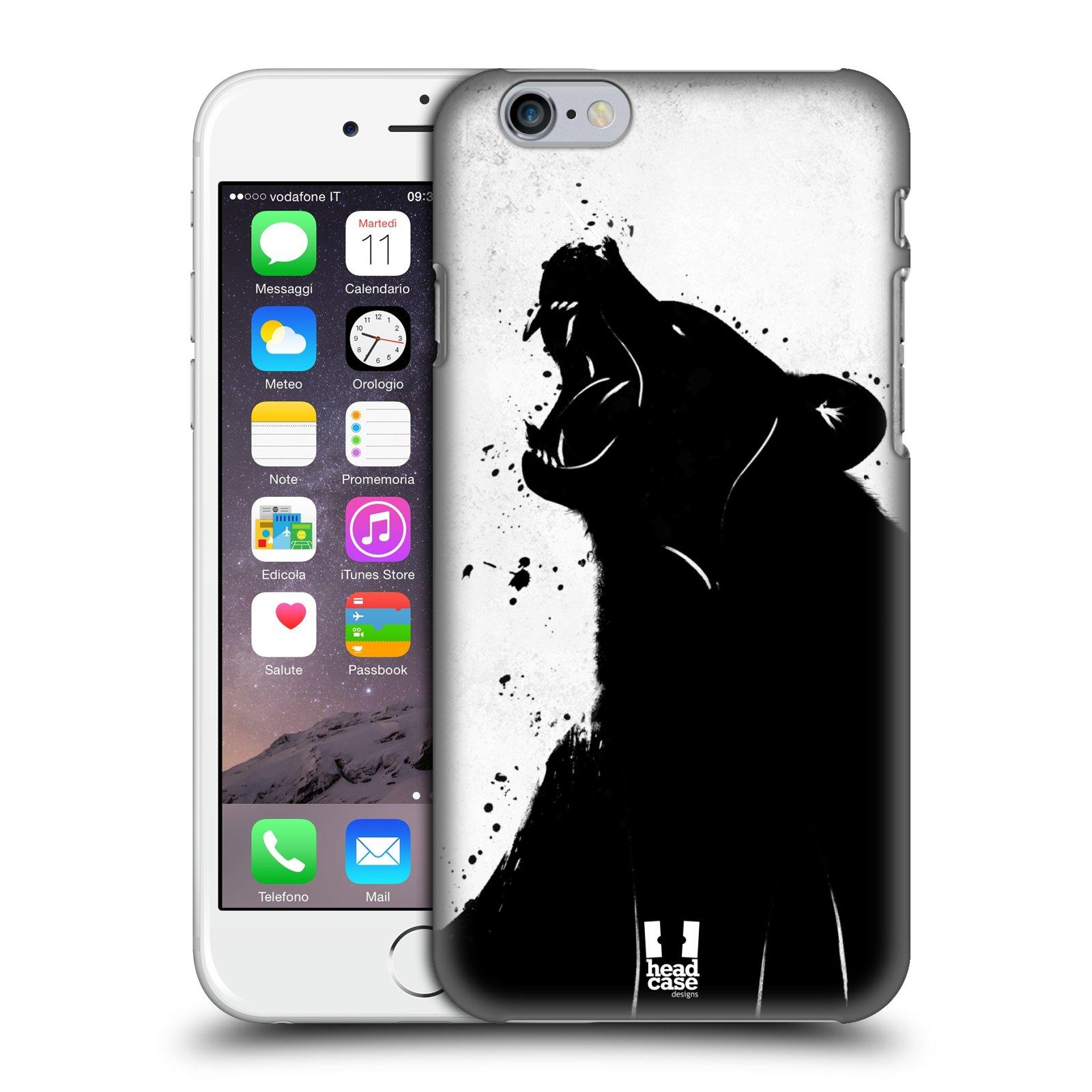 Plastové pouzdro pro mobil Apple Iphone 6/6S vzor Kresba tuš zvíře medvěd