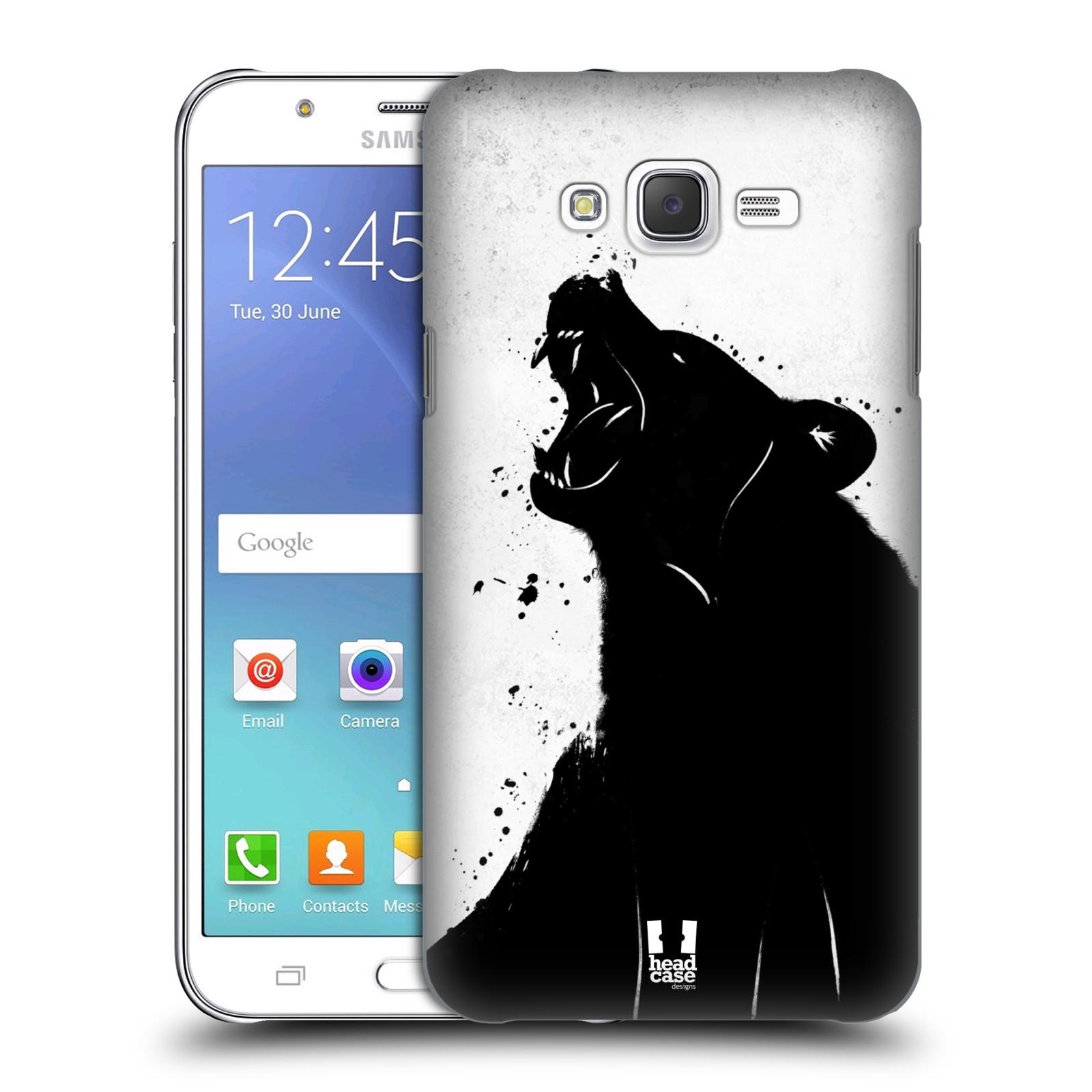 HEAD CASE plastový obal na mobil SAMSUNG Galaxy J7, J700 vzor Kresba tuš zvíře medvěd