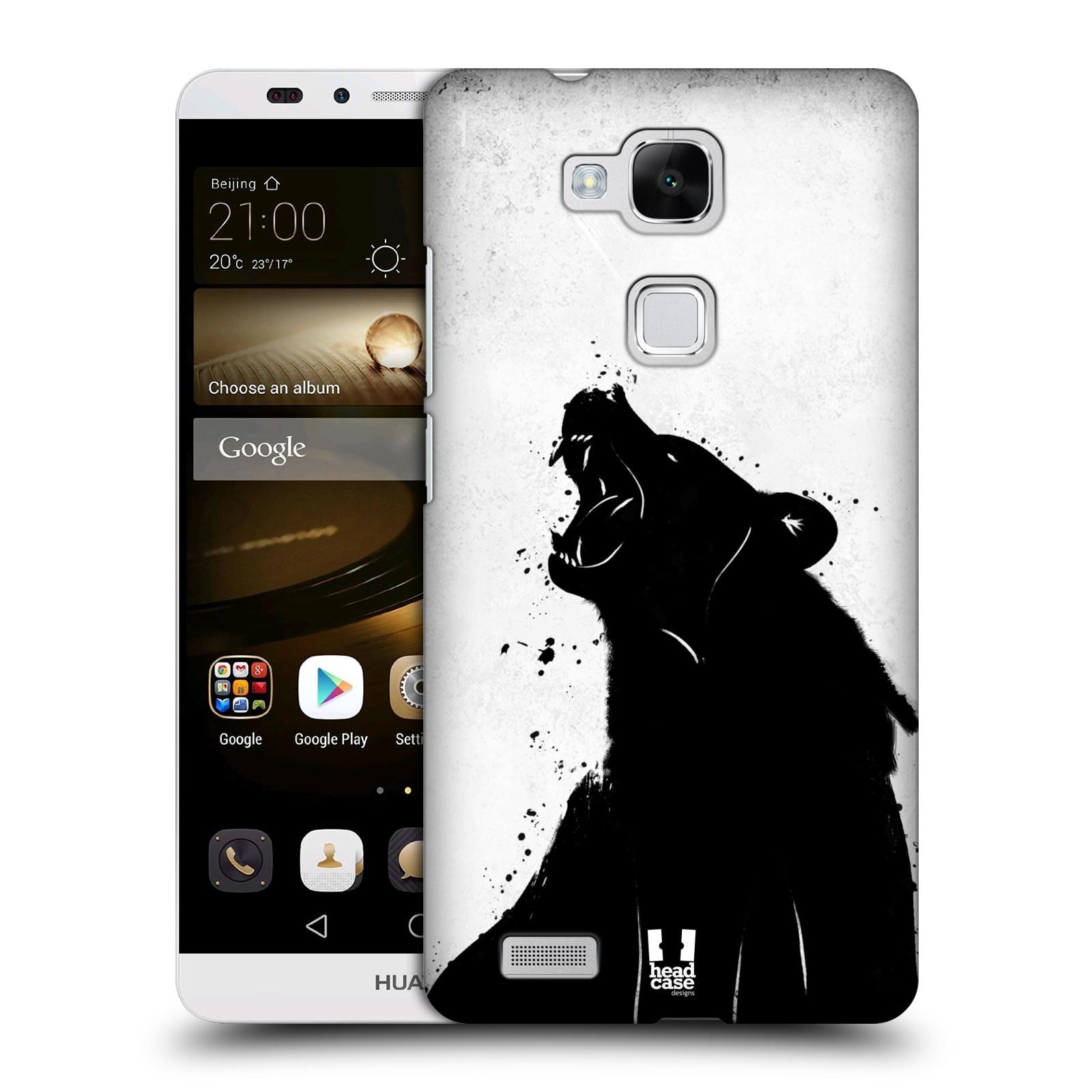 HEAD CASE plastový obal na mobil Huawei Mate 7 vzor Kresba tuš zvíře medvěd