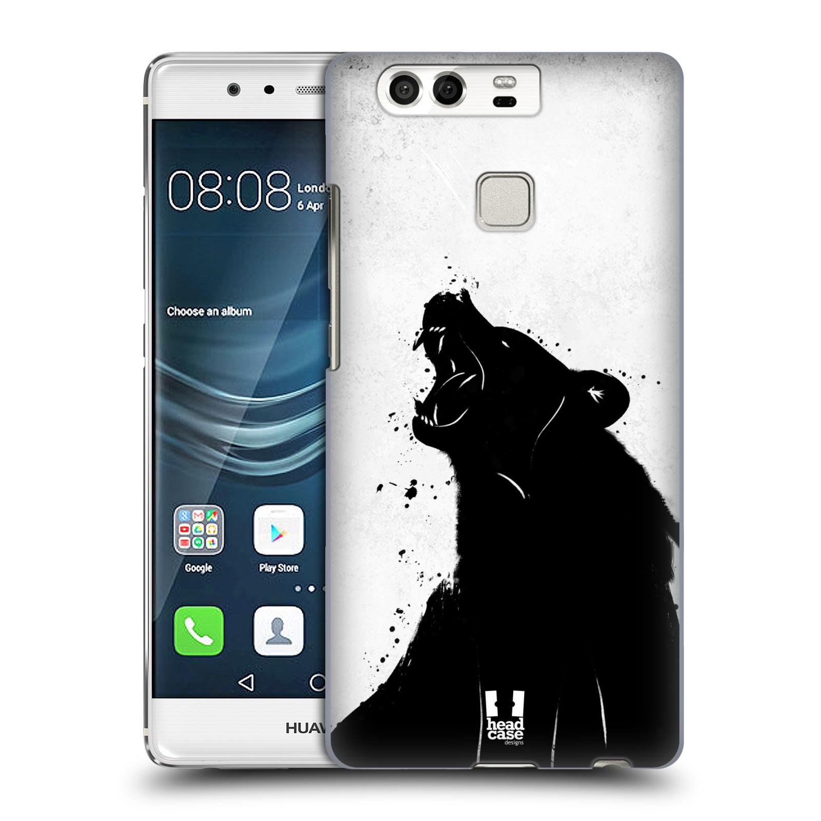 HEAD CASE plastový obal na mobil Huawei P9 / P9 DUAL SIM vzor Kresba tuš zvíře medvěd