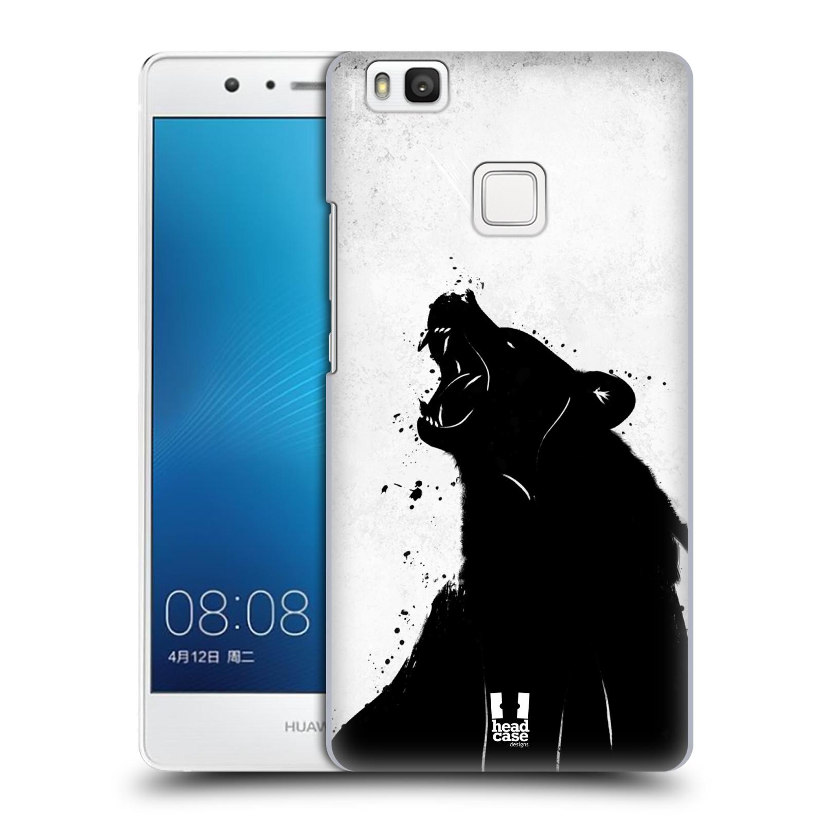 HEAD CASE plastový obal na mobil Huawei P9 LITE / P9 LITE DUAL SIM vzor Kresba tuš zvíře medvěd