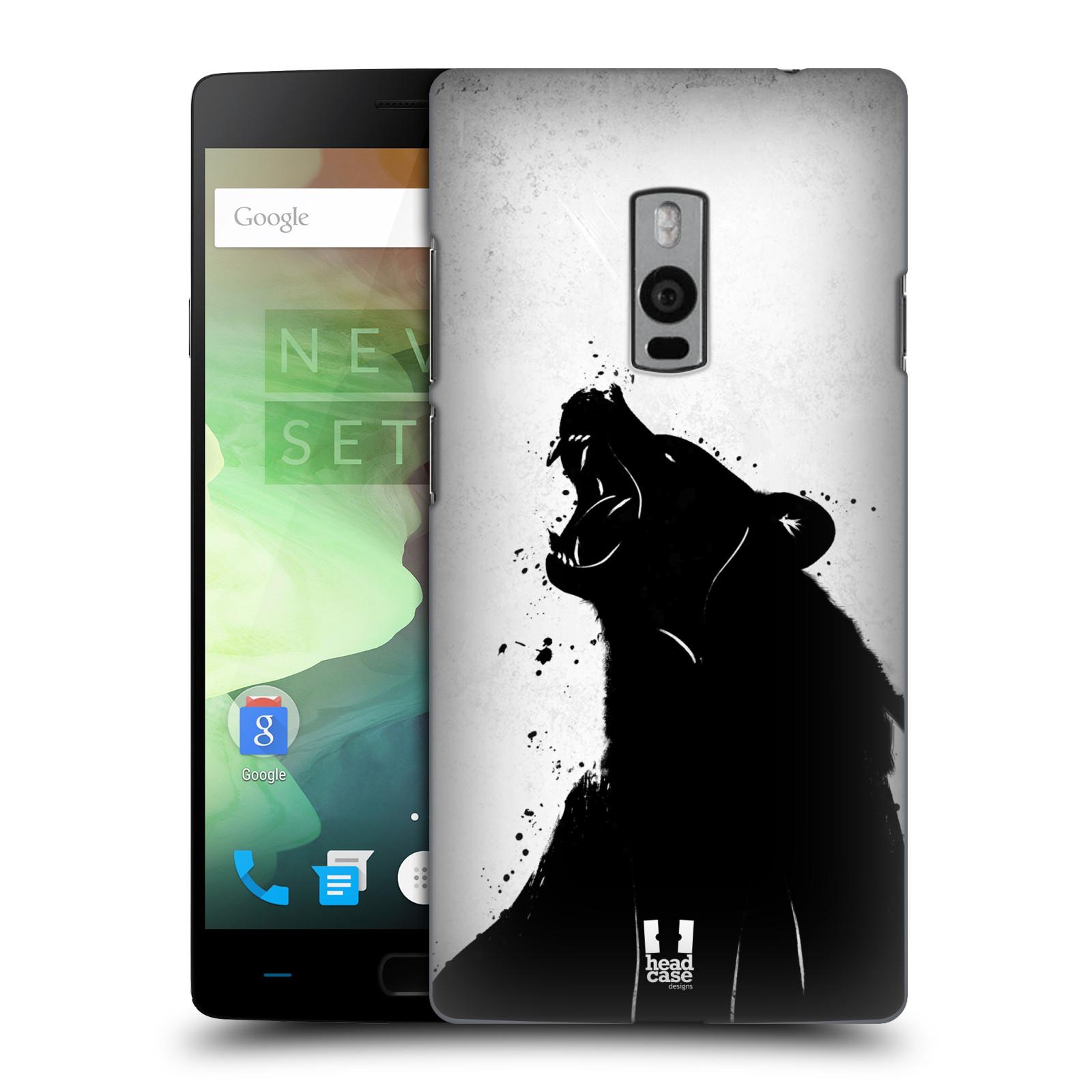HEAD CASE pevný plastový obal na mobil OnePlus 2  ( TWO ) vzor Kresba tuš zvíře medvěd