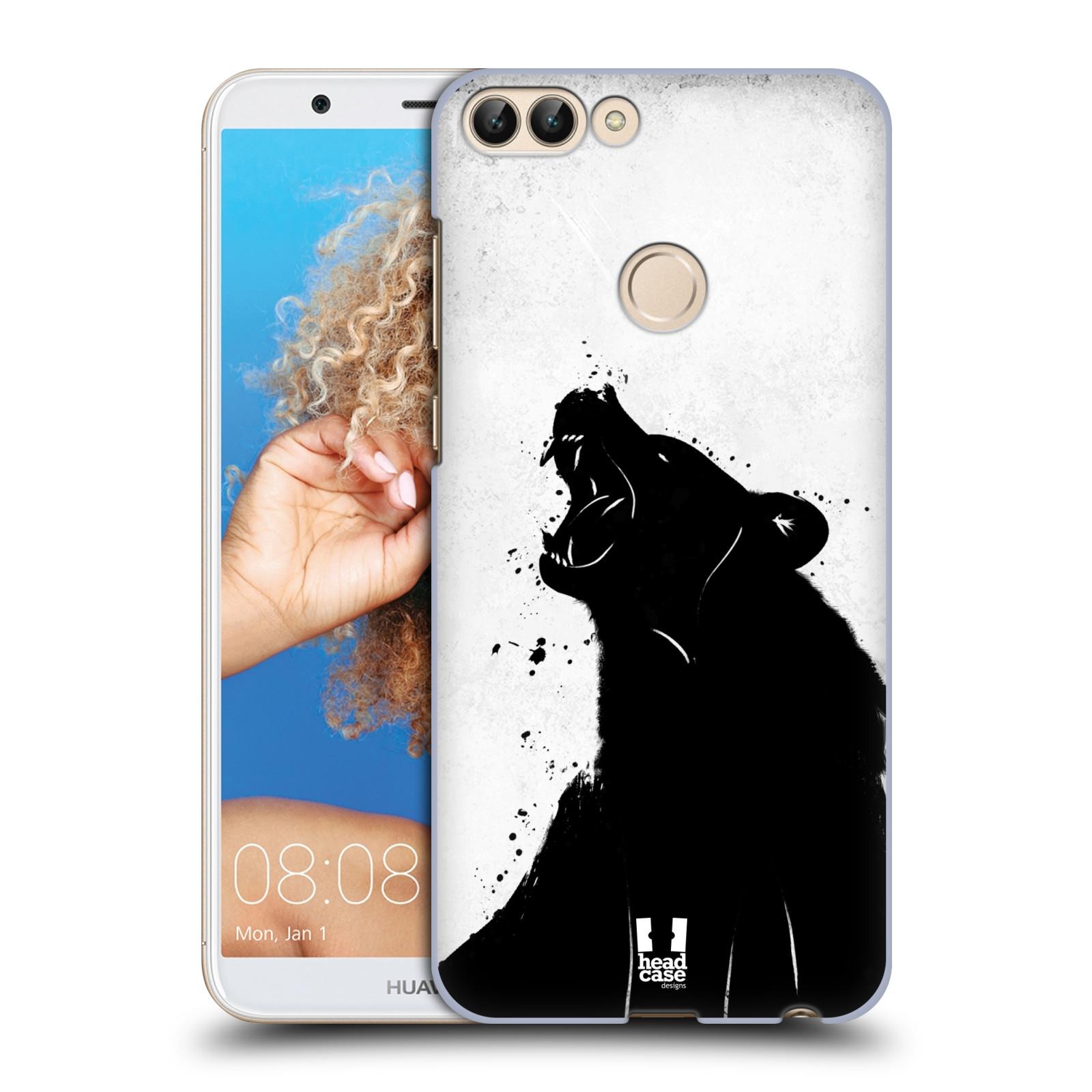 HEAD CASE plastový obal na mobil Huawei P Smart vzor Kresba tuš zvíře medvěd