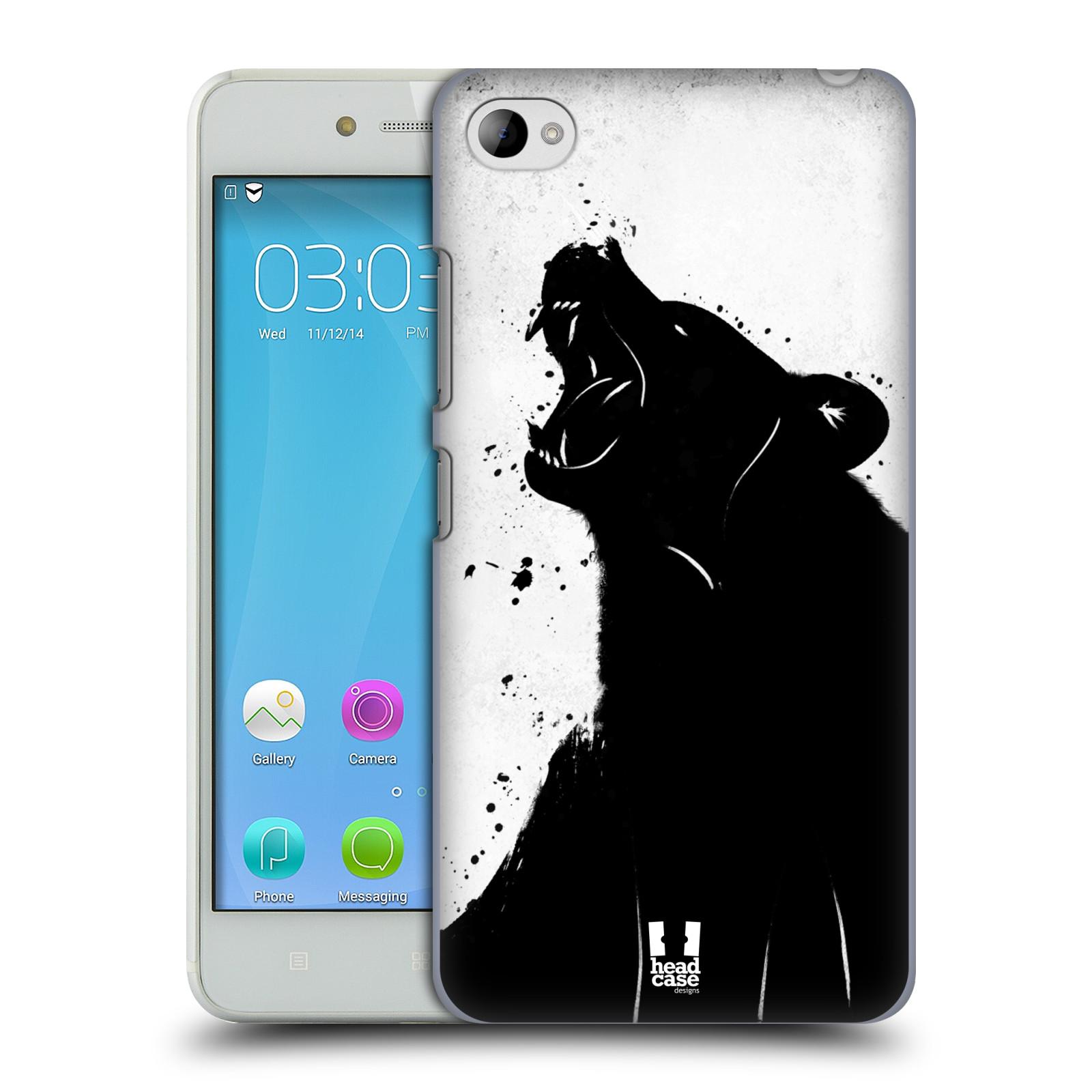 HEAD CASE pevný plastový obal na mobil LENOVO S90 vzor Kresba tuš zvíře medvěd