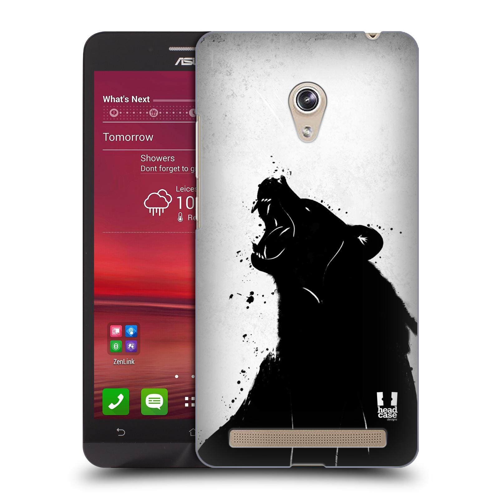 HEAD CASE plastový obal na mobil Asus Zenfone 6 vzor Kresba tuš zvíře medvěd