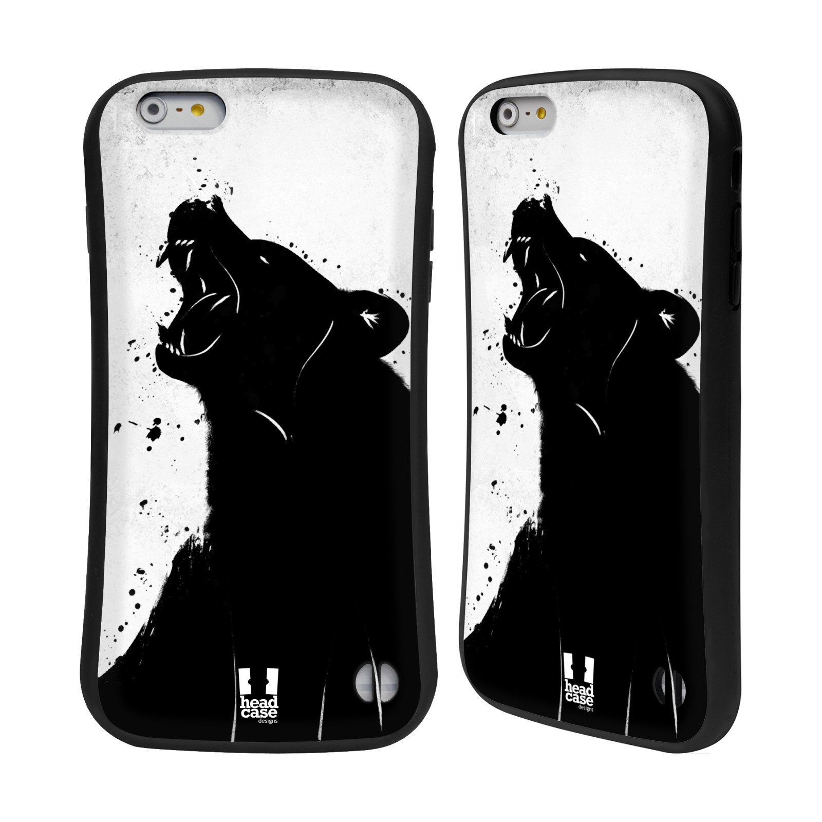 HEAD CASE silikon/plast odolný obal na mobil Apple Iphone 6 PLUS / 6S PLUS vzor Kresba tuš zvíře medvěd