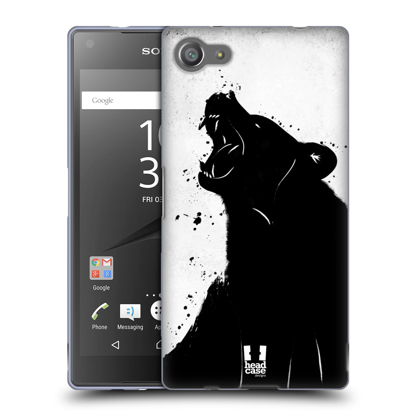 HEAD CASE silikonový obal na mobil Sony Xperia Z5 COMPACT vzor Kresba tuš zvíře medvěd