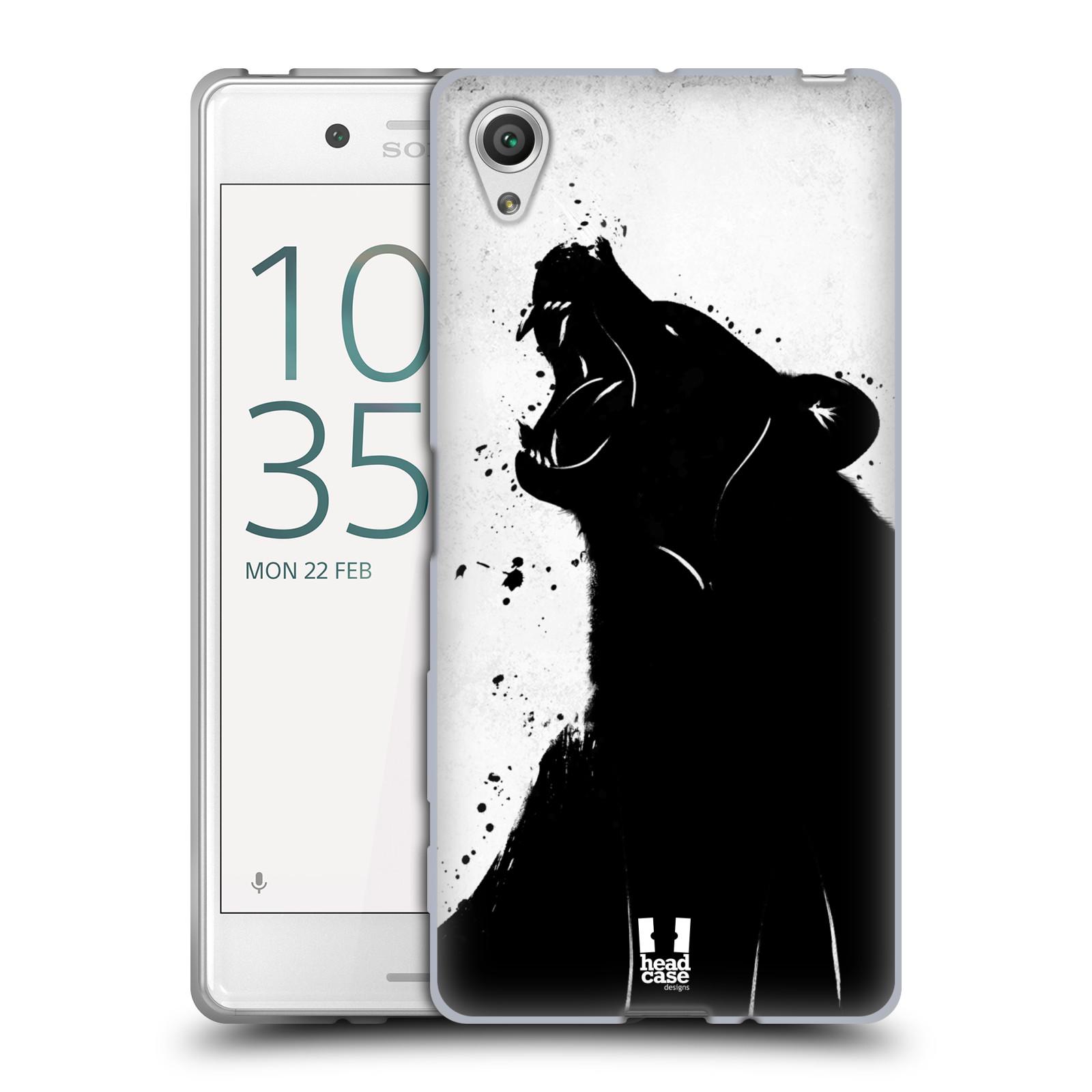 HEAD CASE silikonový obal na mobil Sony Xperia X / X DUAL vzor Kresba tuš zvíře medvěd