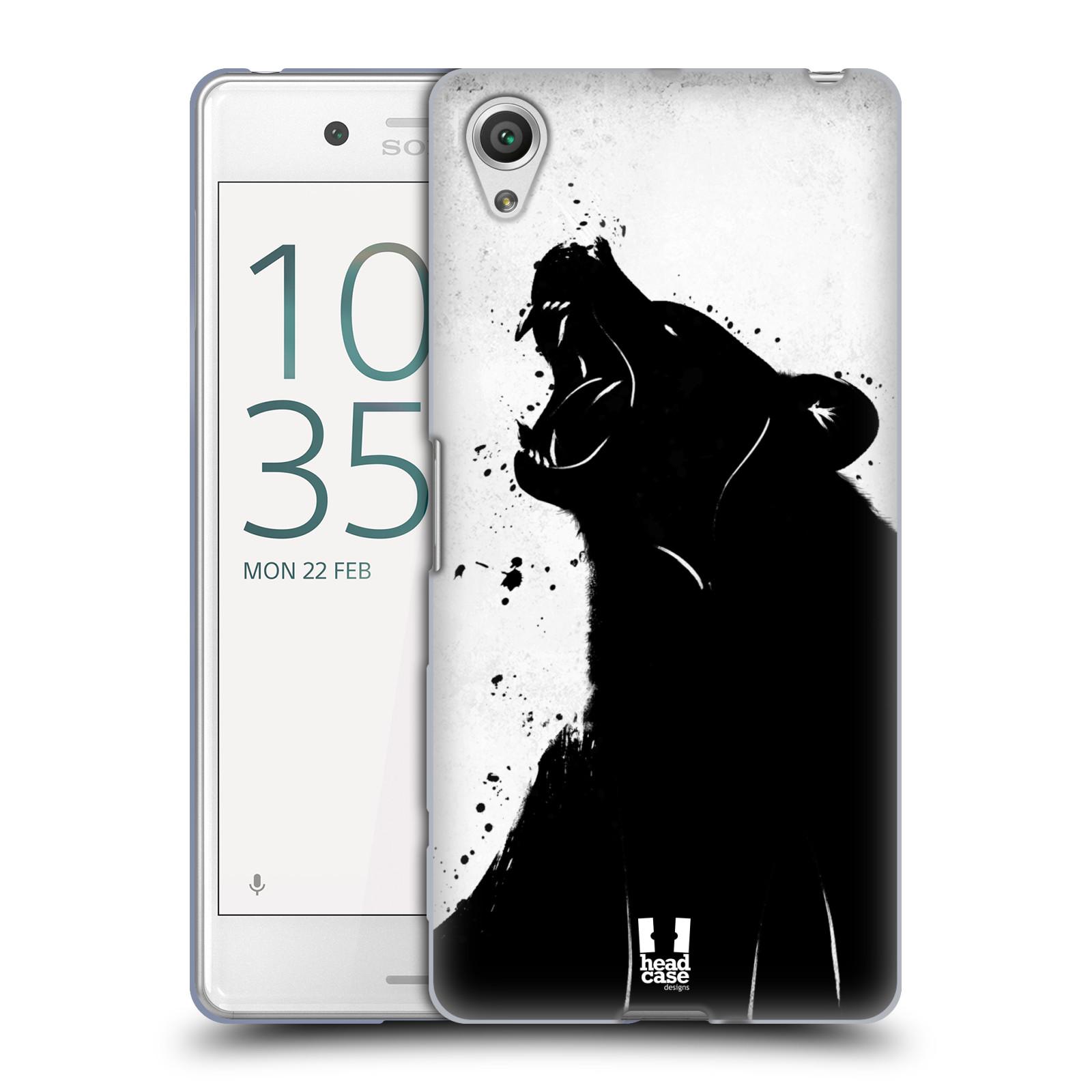 HEAD CASE silikonový obal na mobil Sony Xperia X PERFORMANCE (F8131, F8132) vzor Kresba tuš zvíře medvěd